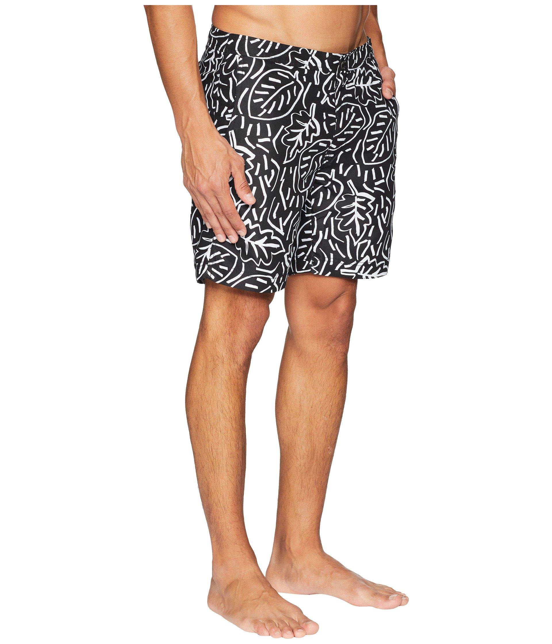 300011f01c Onia - Black Calder 10 Pop Leaves Swim Trunk for Men - Lyst. View fullscreen