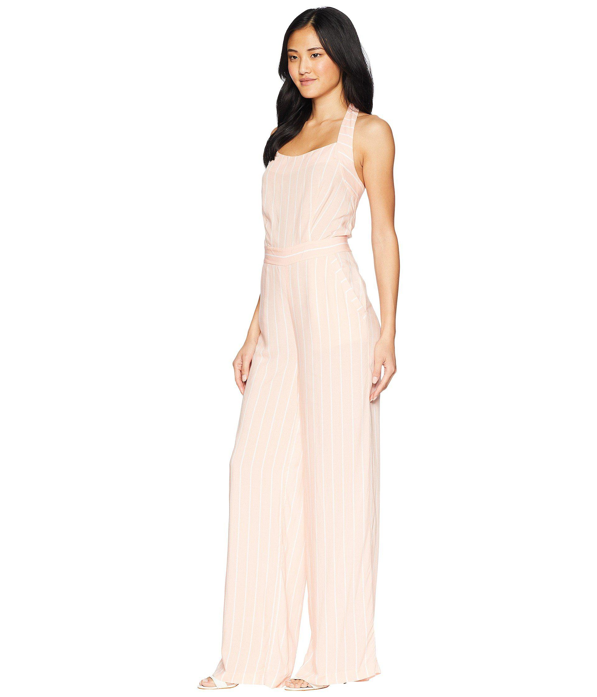 38aa1e1bd17 Lyst - Juicy Couture Cindy Stripe Jumpsuit in Pink
