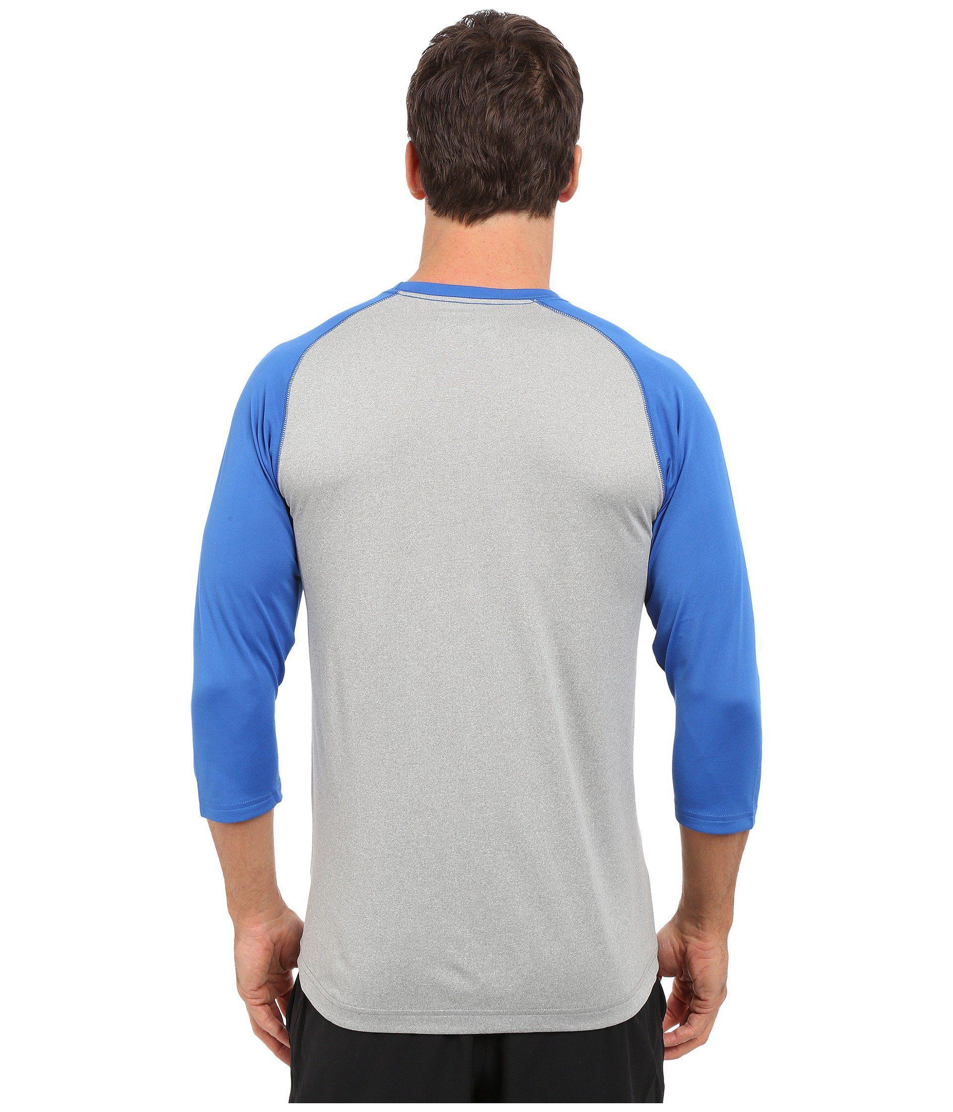 9abfc890 New Balance 3/4 Baseball Raglan in Blue for Men - Lyst