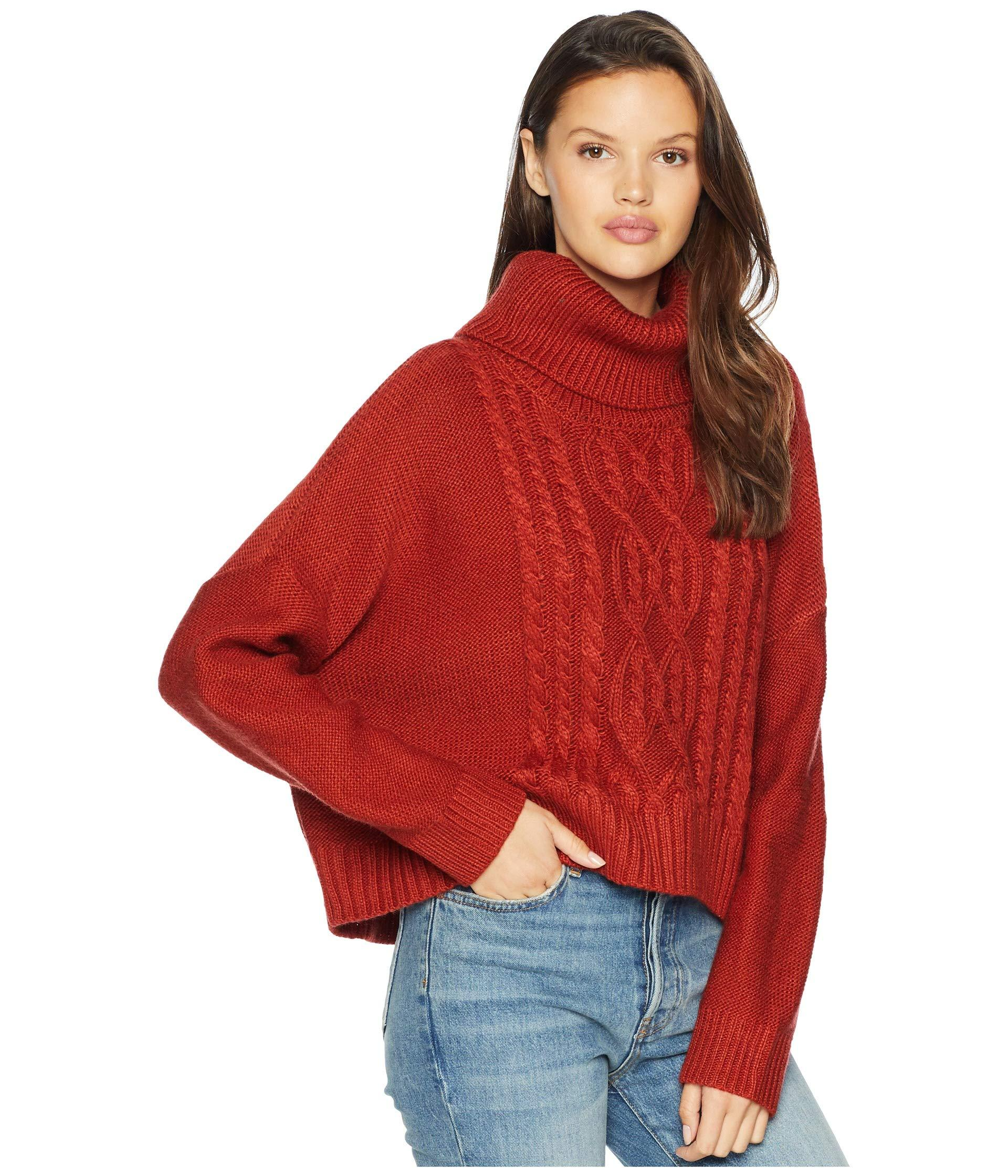 5d937df4d0 Jack BB Dakota - Red Say Anything Raglan Sleeve Cable Knit Sweater - Lyst.  View fullscreen