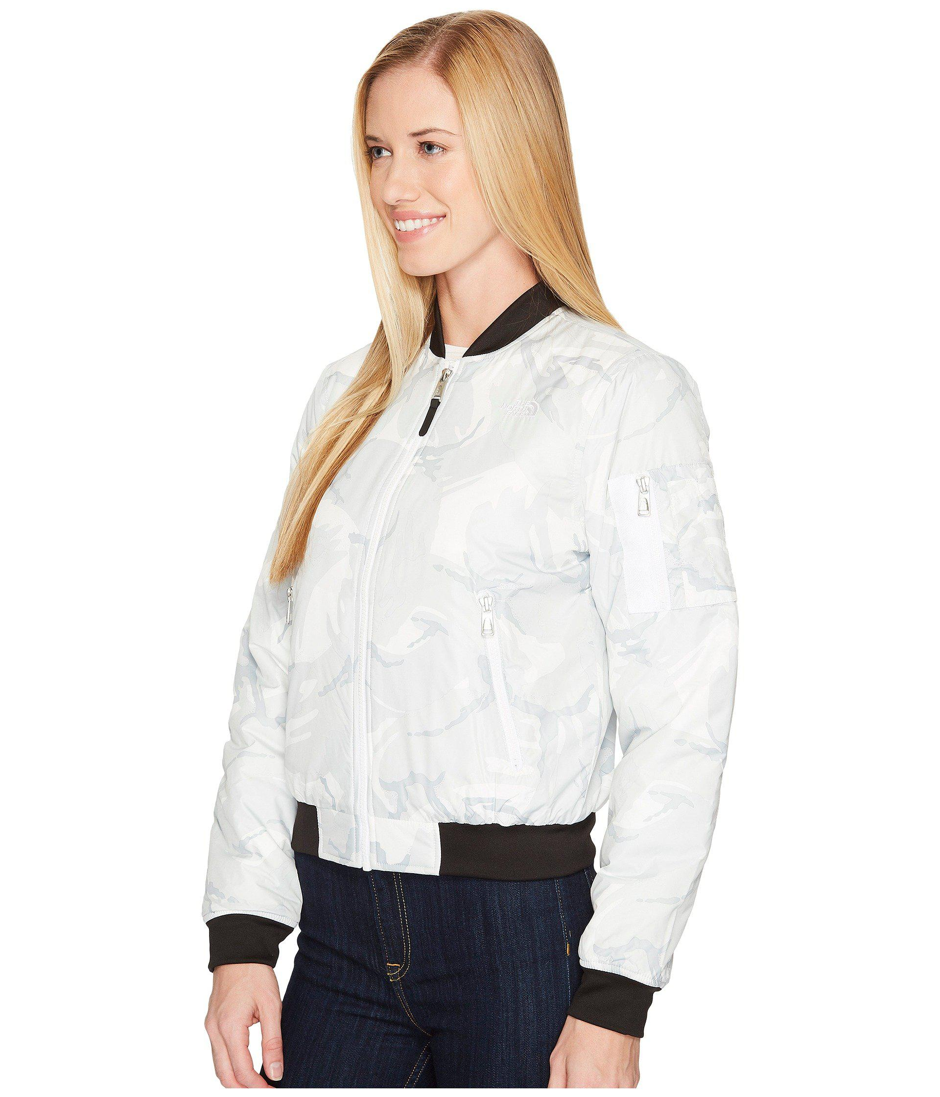 Lyst - The North Face Barstol Bomber in White - Save 29% ee0ff1016
