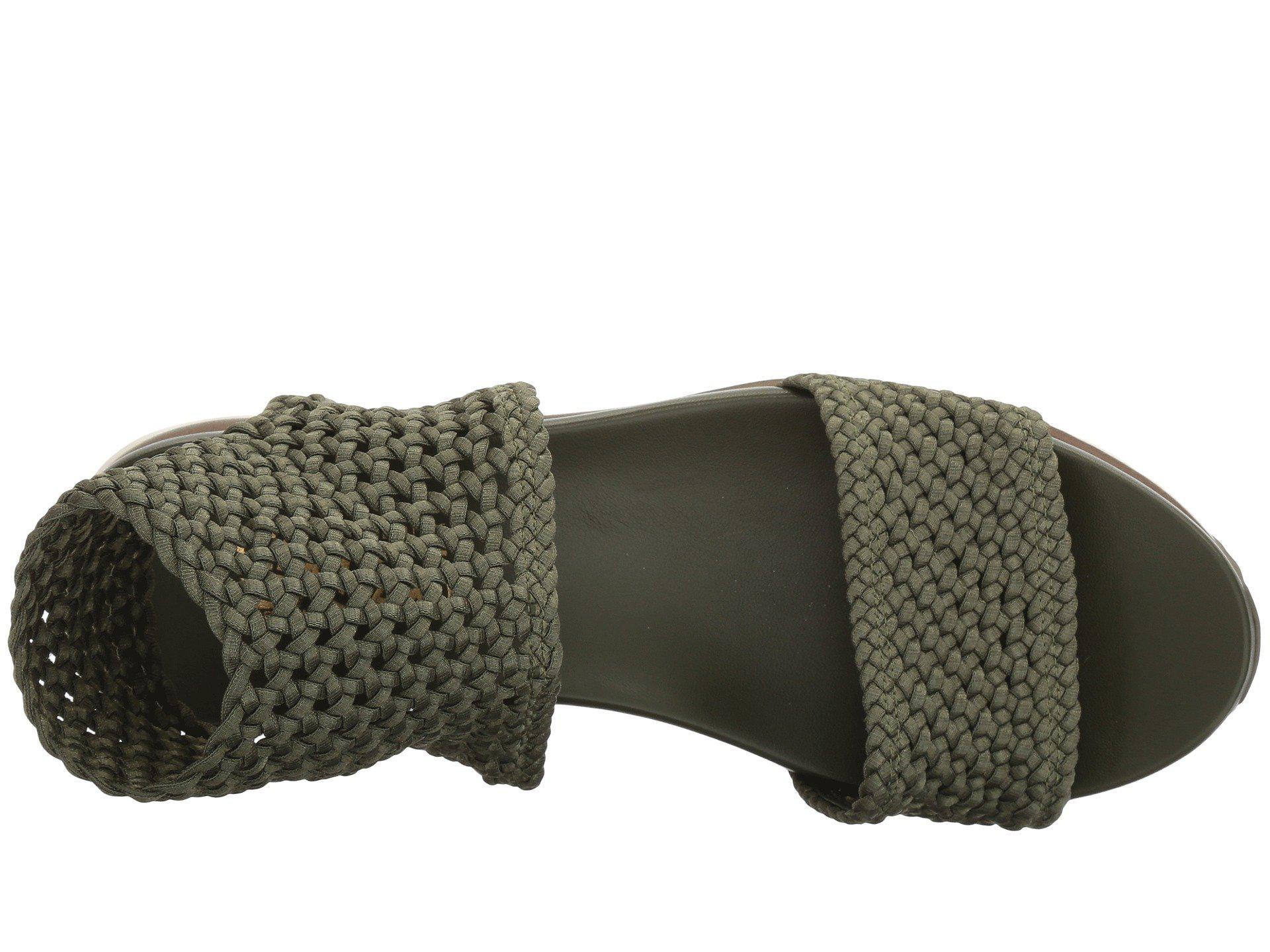 ac5589442067 Ferragamo - Green Elastic Platform Sandal - Lyst. View fullscreen
