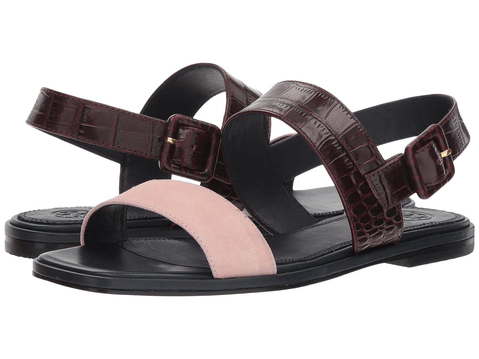 f003bdf3bdc Lyst - Tory Burch Delaney Color-block Flat Sandals - Save 66%