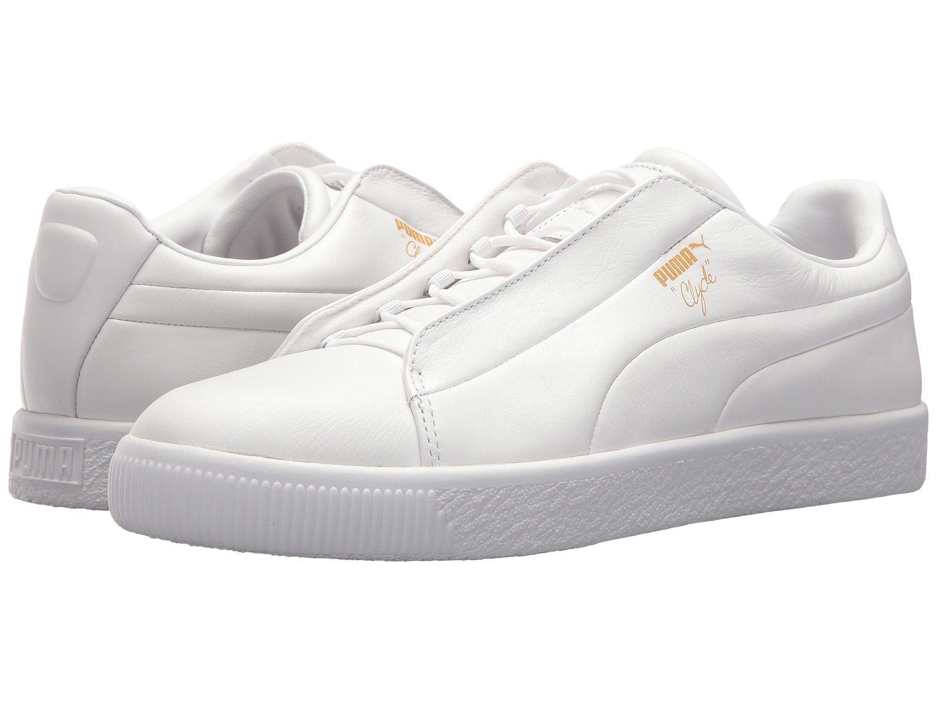 Lyst - PUMA Clyde Fashion Leather in White ead6b9102