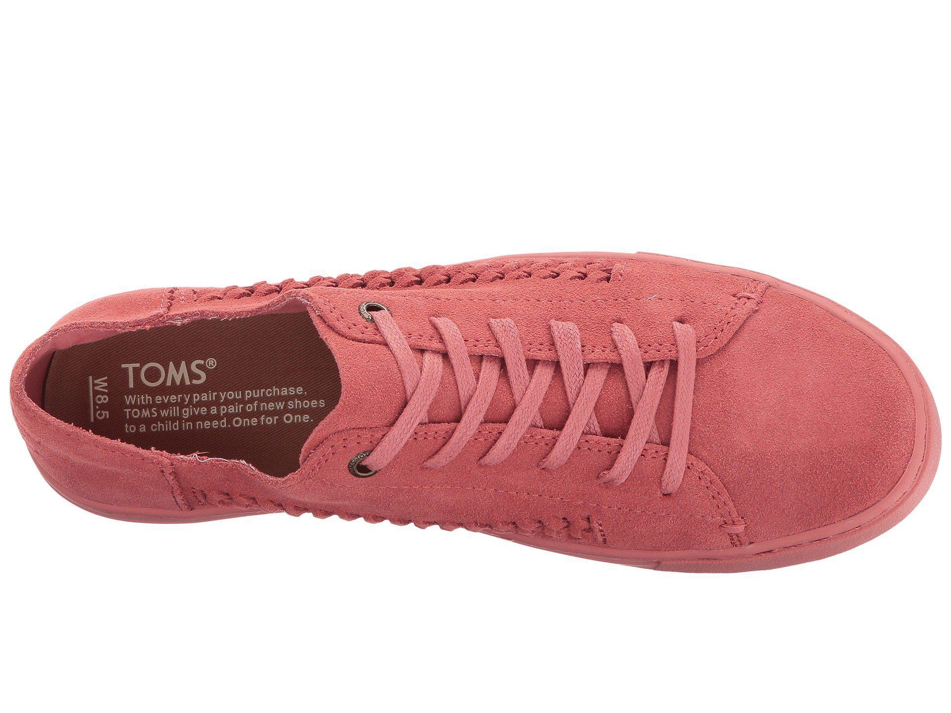 0a9b74f28ea Lyst Toms Lenox Sneaker In Pink Save 43