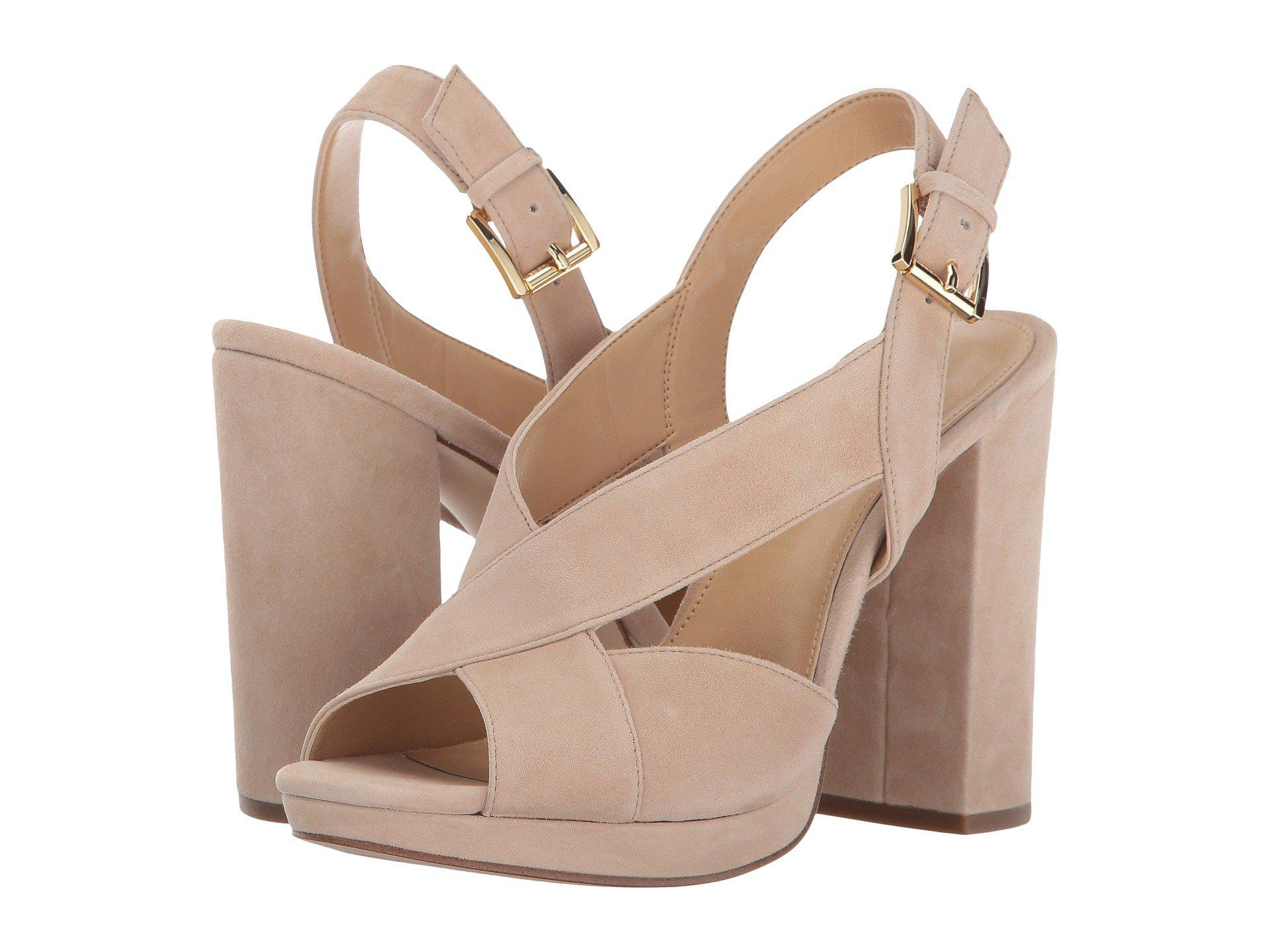 7b83331cd572 Lyst - Michael Michael Kors Becky Platform in Natural - Save ...