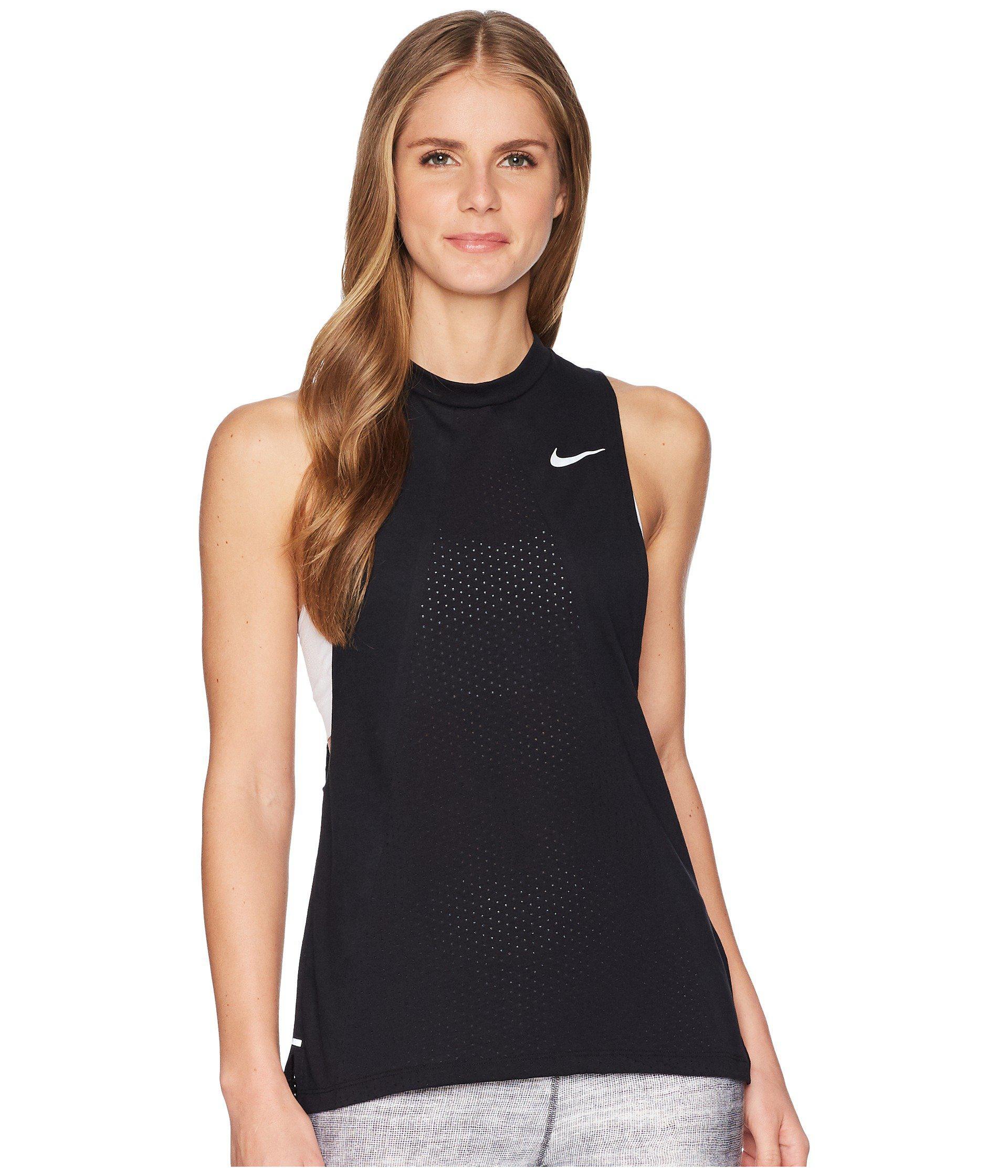 e0d7cc93a4 Nike Breathe Tailwind Tank Top Cool in Black - Lyst