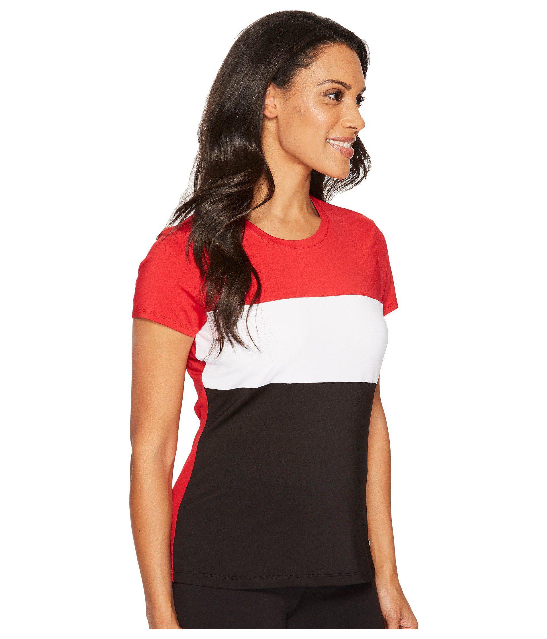 Fila - Red Heritage Tennis Cap Sleeve Top - Lyst. View fullscreen d77533beb48e
