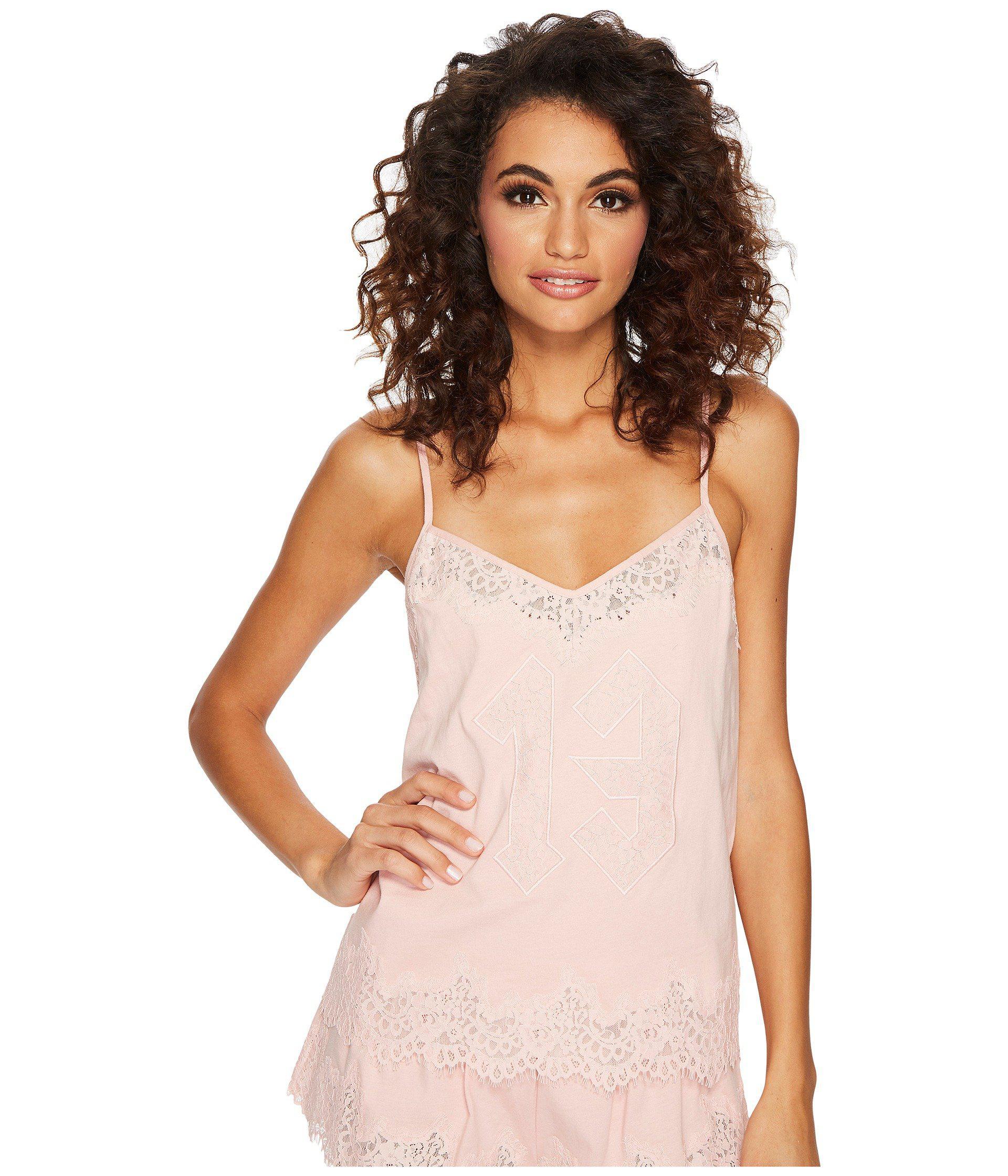 c16019379cc9 Lyst - PUMA Fenty Lace Trim Sleepwear Cami in Pink