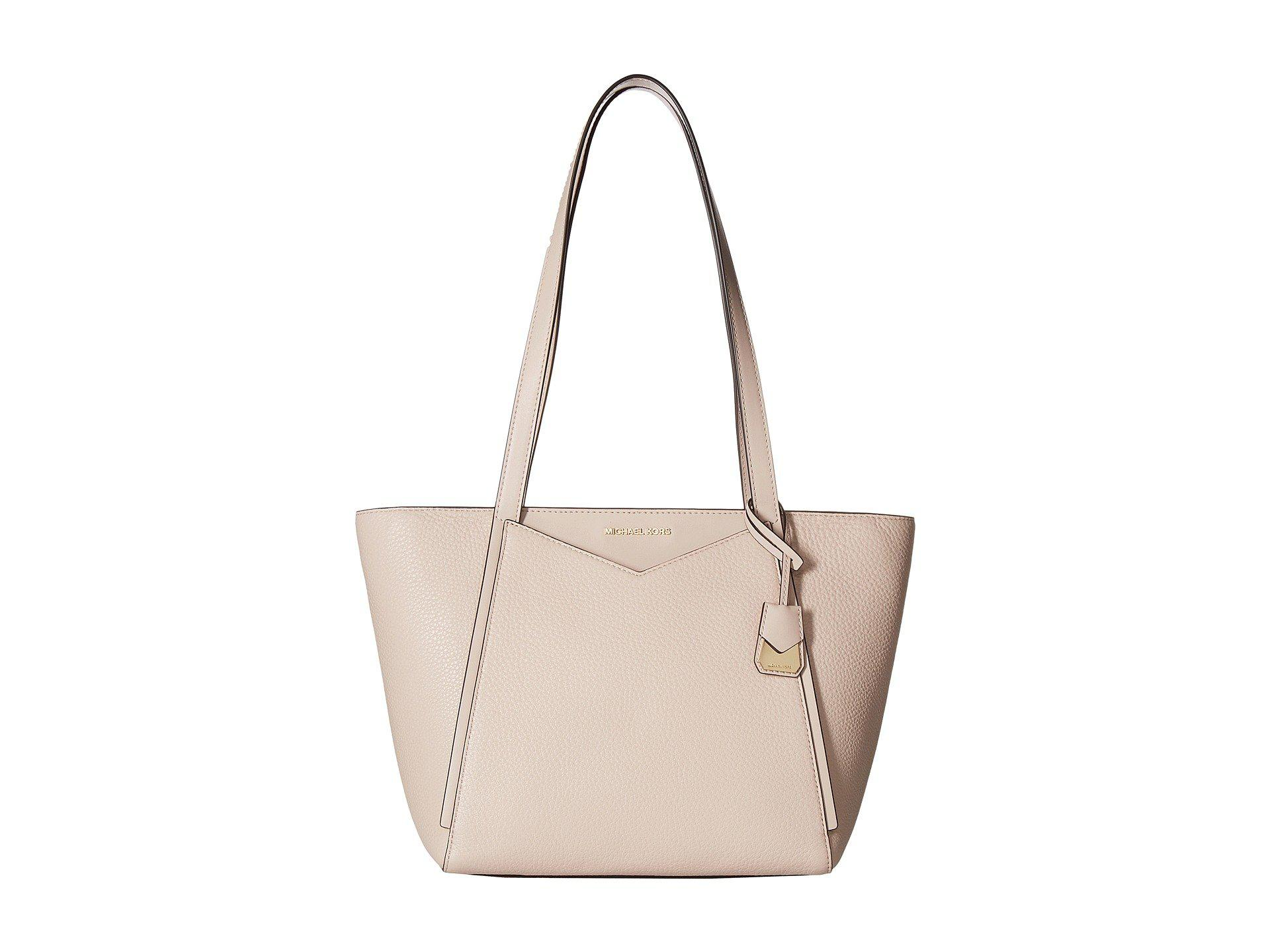 73ad79c7b2c68 Lyst - MICHAEL Michael Kors Whitney Small Top Zip Tote in Pink ...