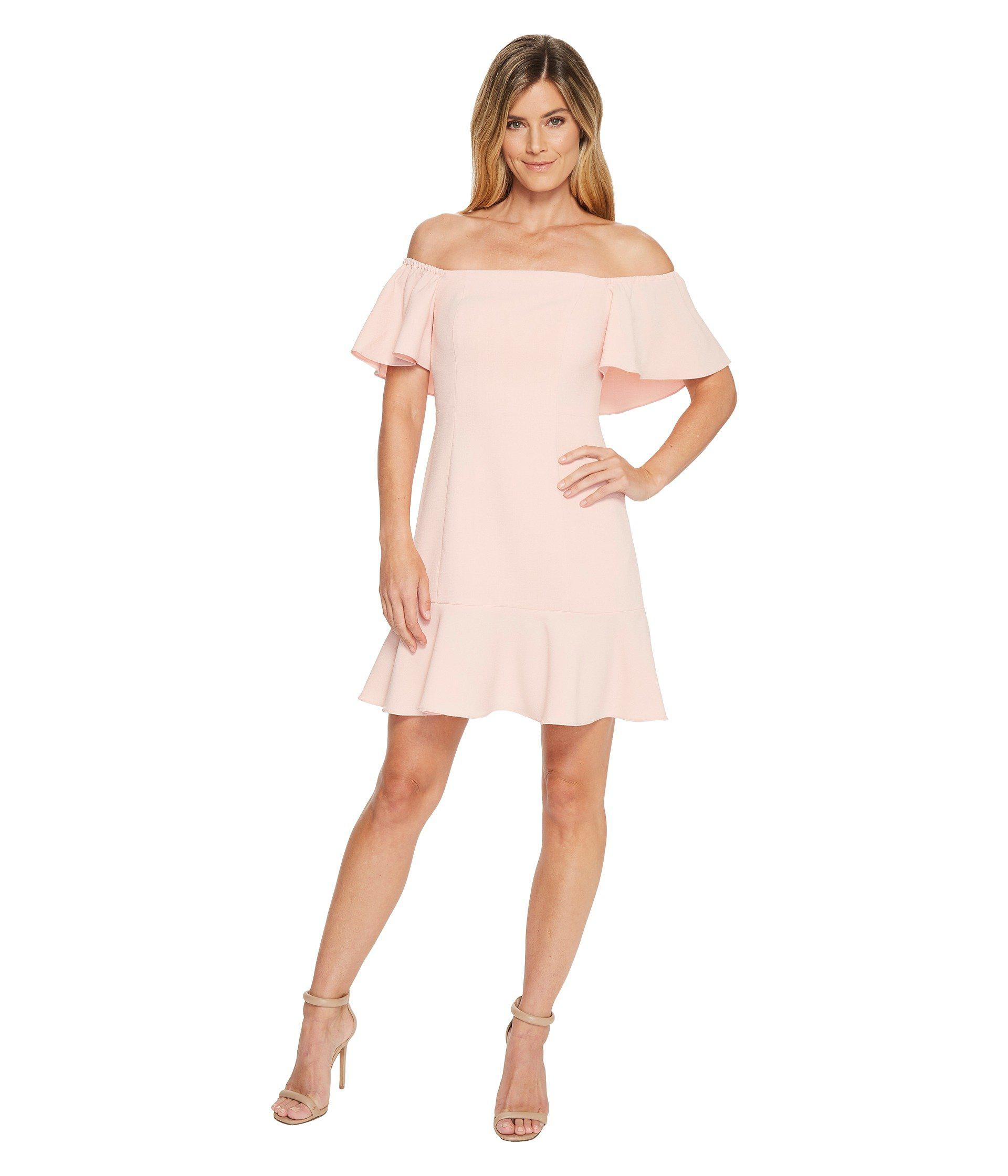 585654fd6ae9 Lyst - Vince Camuto Flounce Hem Dress in Pink - Save 64%