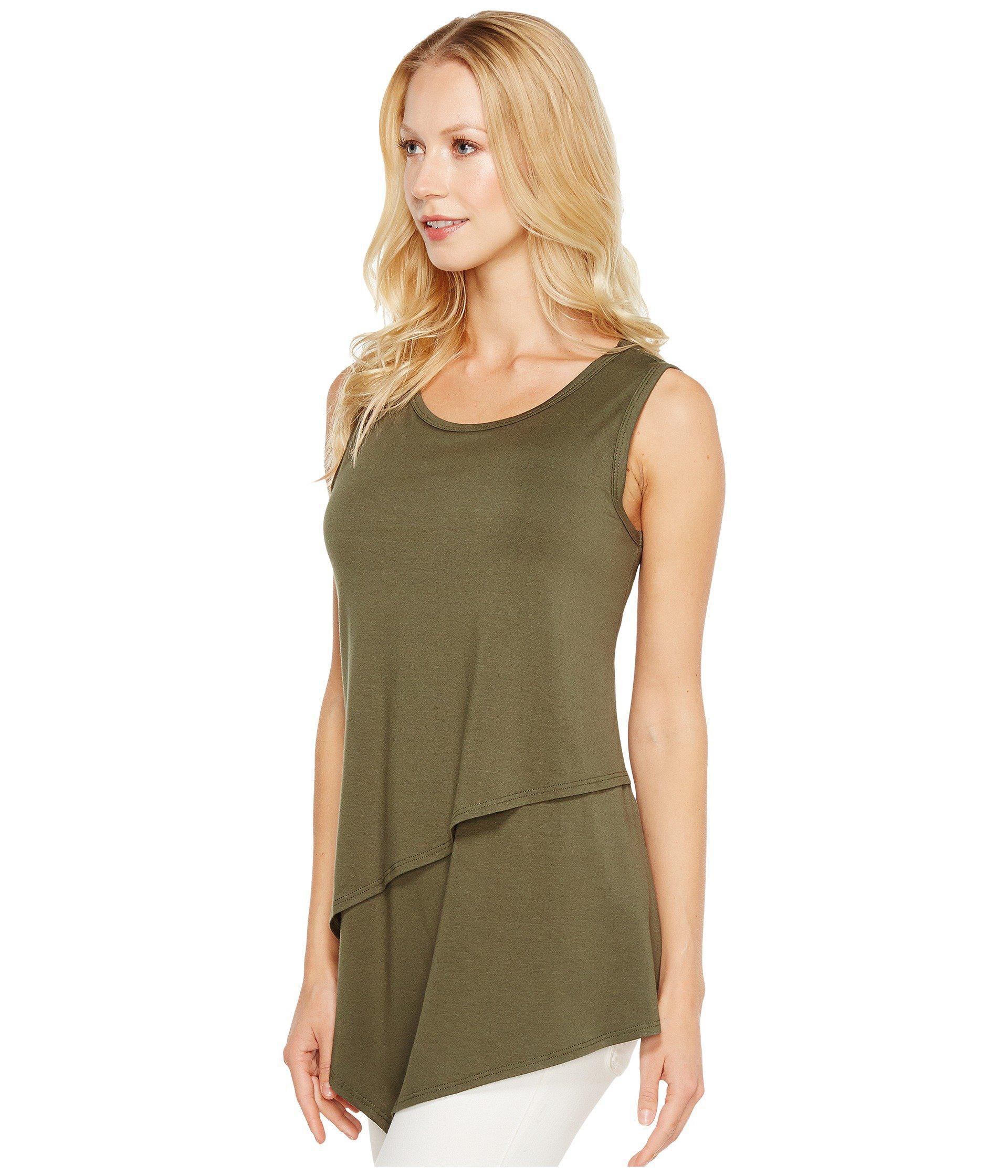 ee1cfb554e510 Lyst - Karen Kane Asymmetric Layer Top in Green - Save 37%
