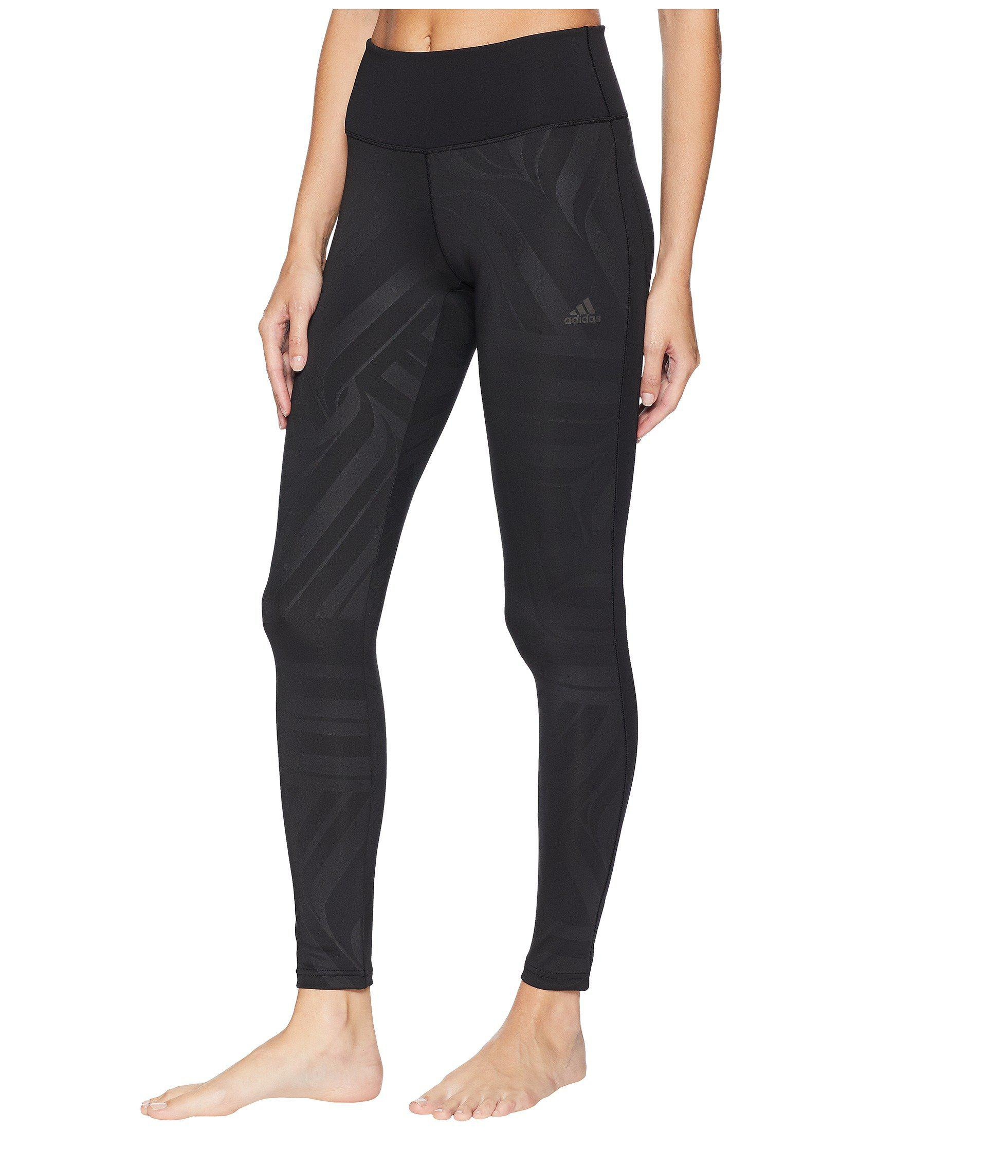 bf1e6483284 adidas Designed-2-move High-rise Long Tights in Black - Lyst