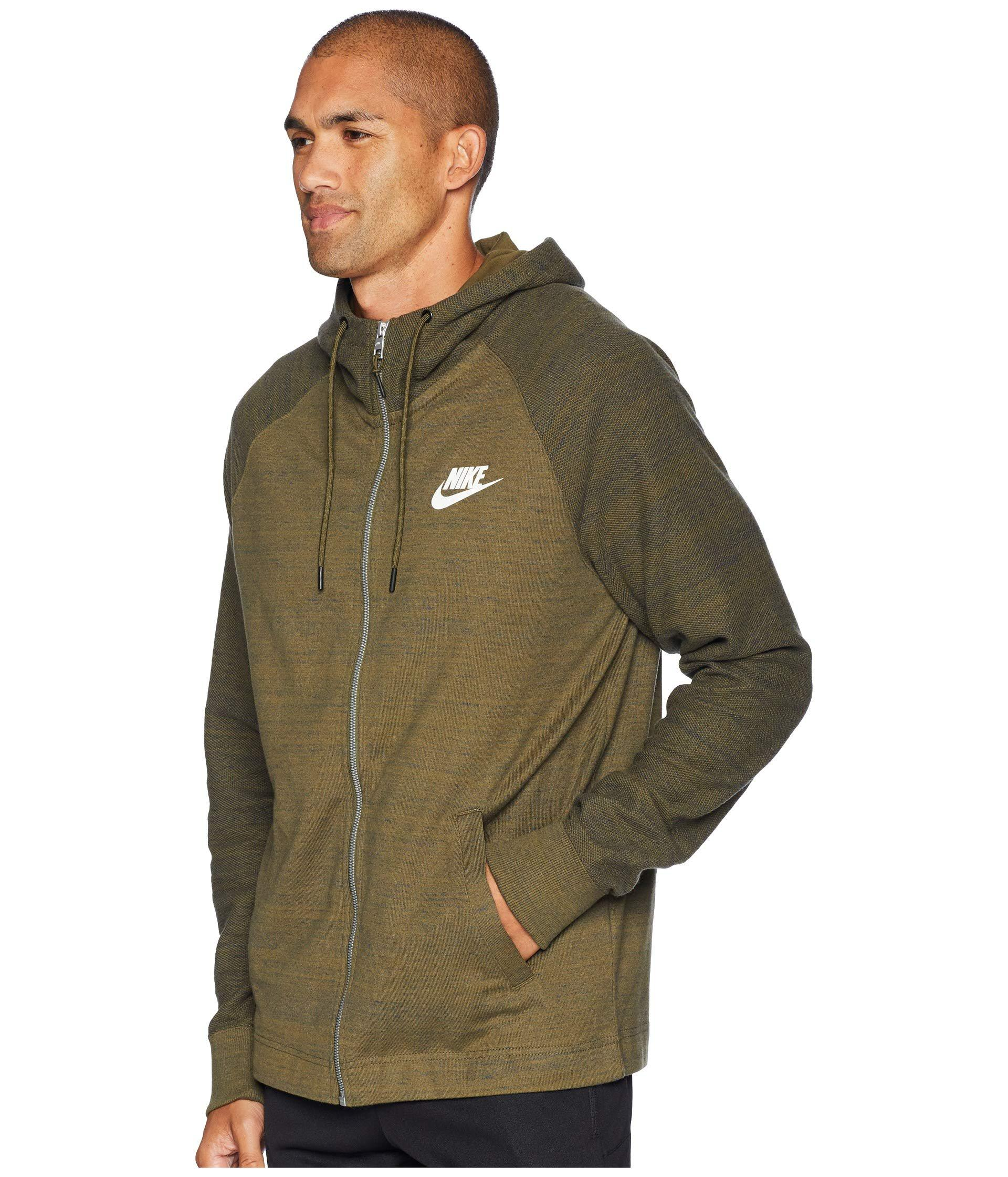 b0cb036099 Lyst - Nike Nsw Av15 Hoodie Full-zip Knit in Green for Men - Save 8%