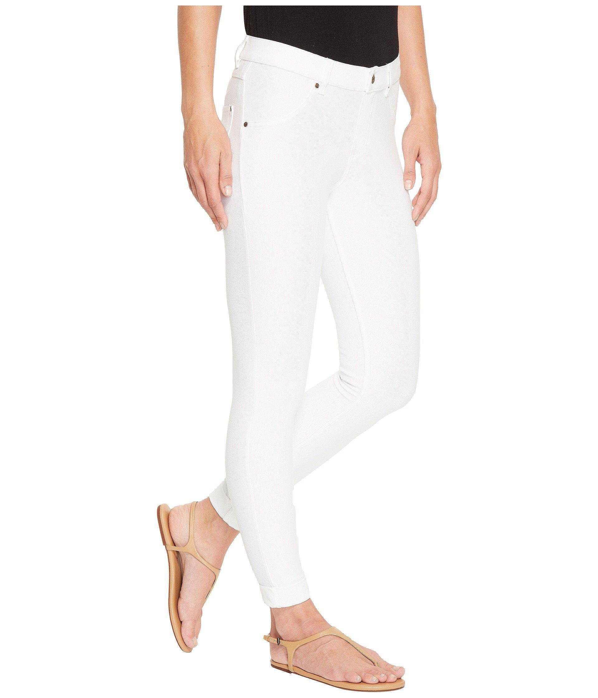 f227788cea0f Lyst - Hue Cuffed Essential Denim Skimmer in White