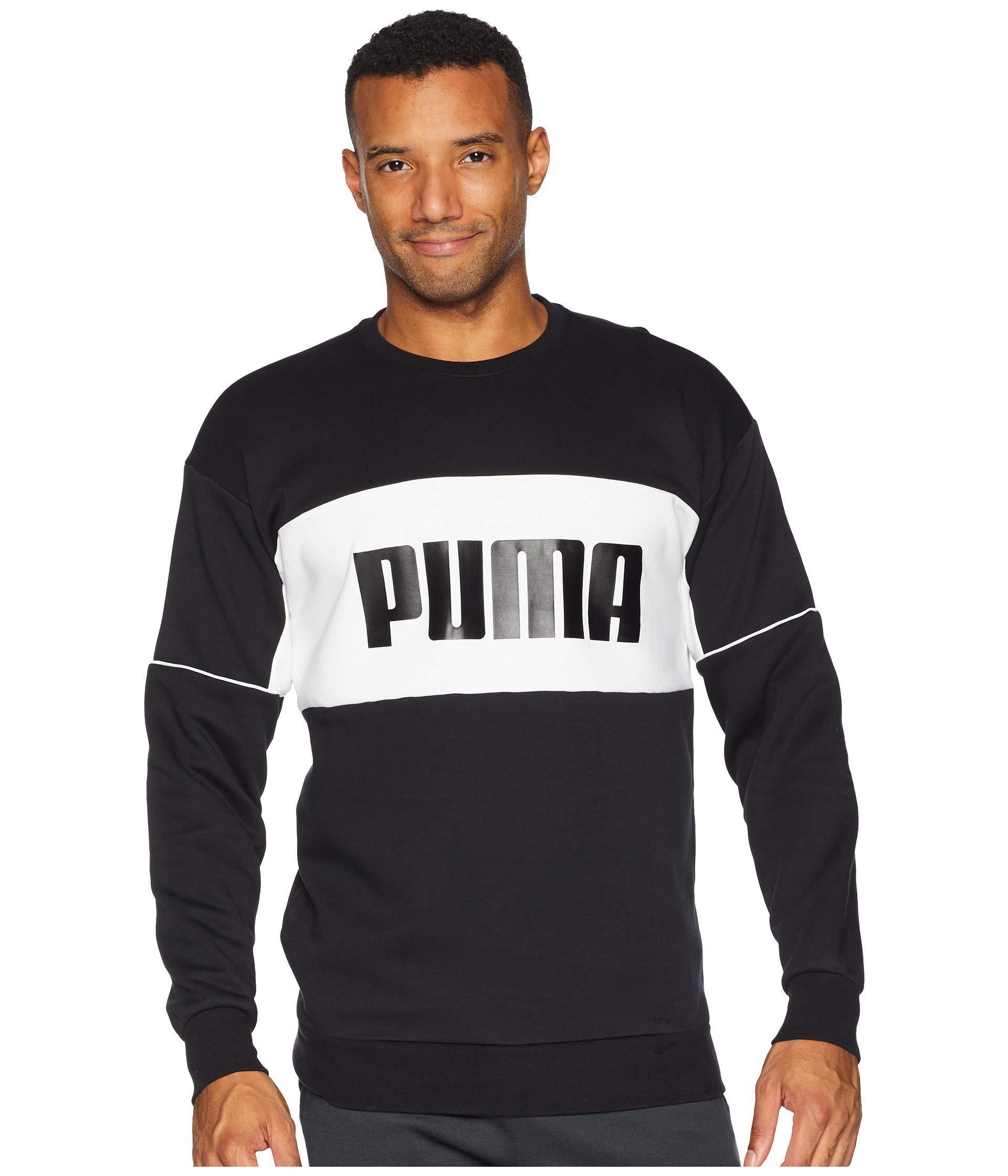 1320ab1cfbaaf7 Lyst - PUMA Retro Crew Neck Sweatshirt in Black for Men - Save 69%