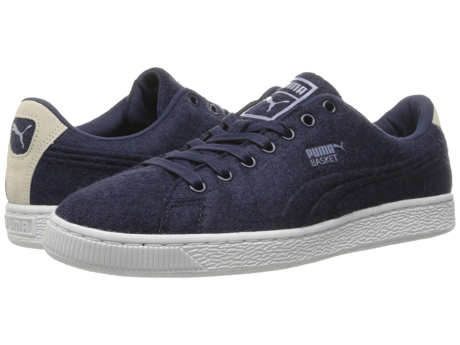 Lyst - Puma Basket Classic Embossed Wool in Blue for Men cc4bf62dc