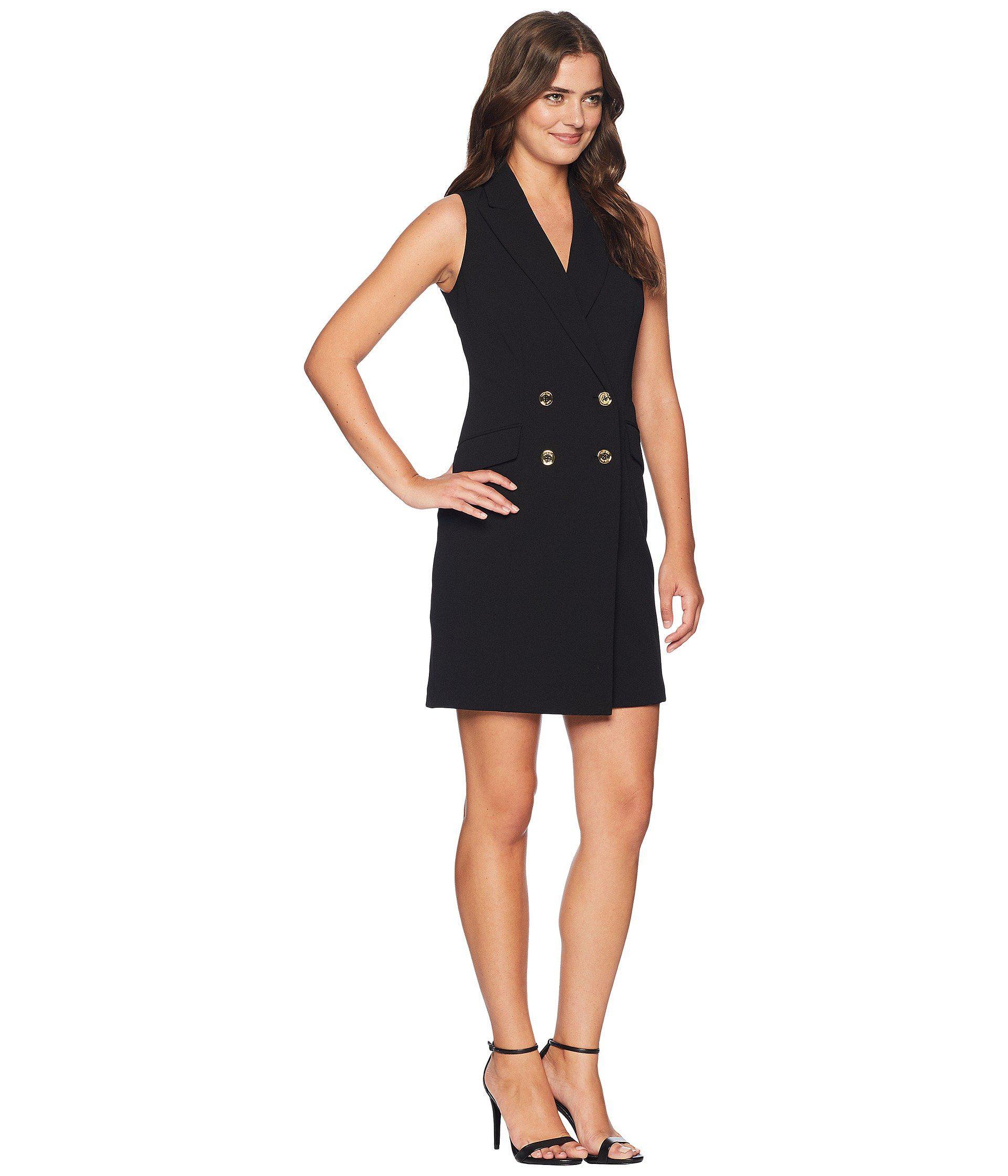 Calvin Klein Tuxedo Dress Cd8c15pl In Black Lyst