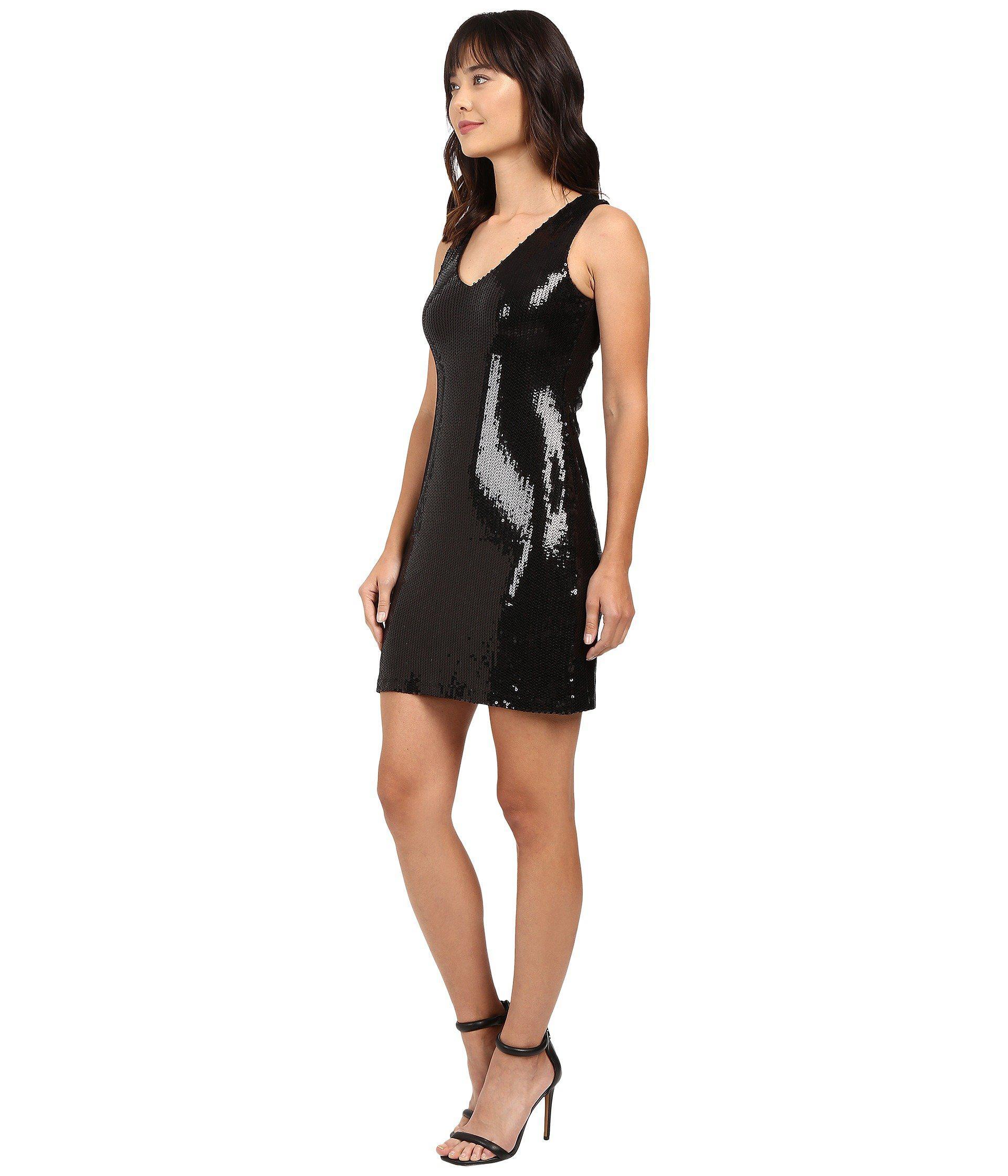 65beeb80dd0 Lyst - Karen Kane V-neck Sequin Sheath Dress in Black - Save 13%