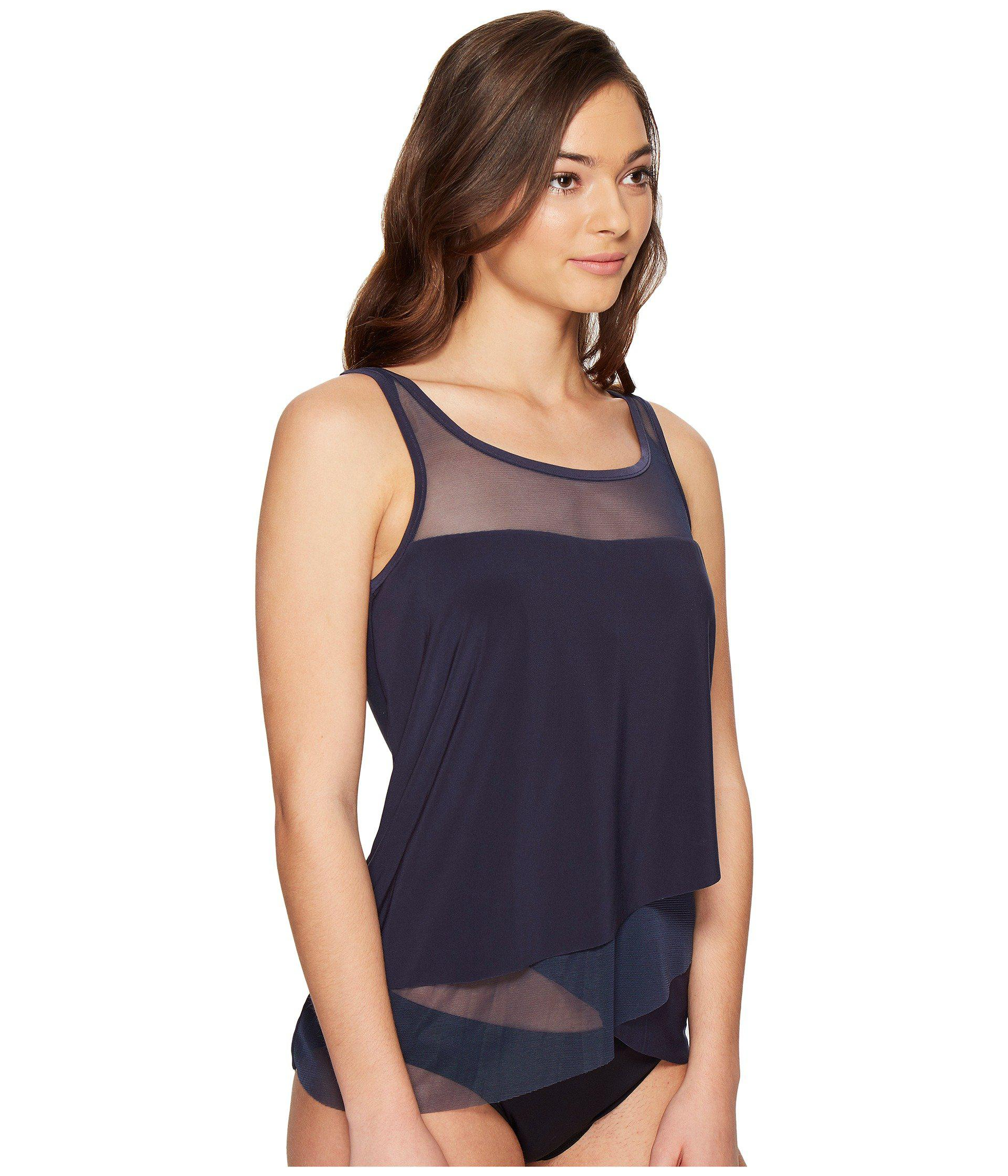 a55b461da0 Miraclesuit Solid Separates Mirage Tankini Top in Blue - Lyst