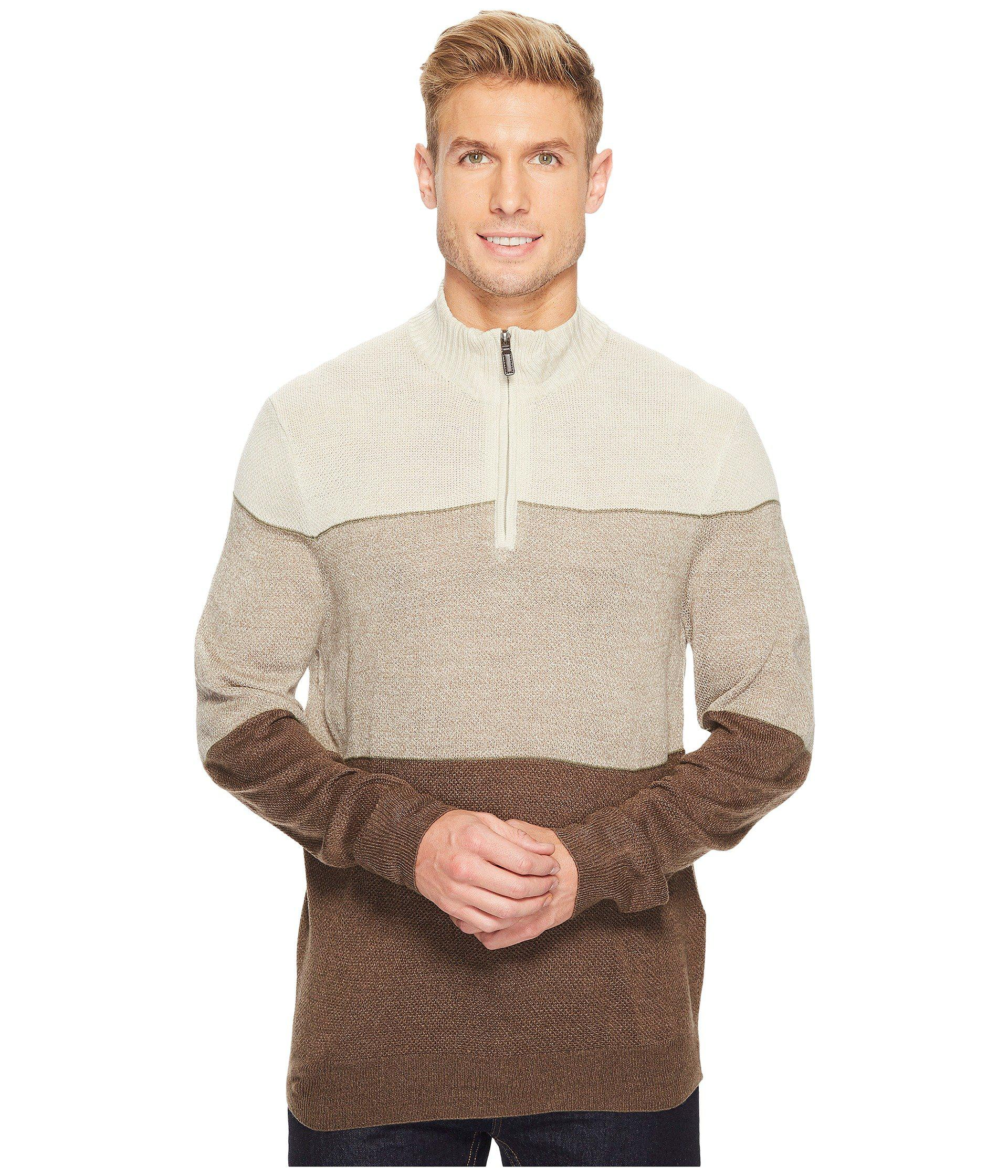 3848bed202e9 Lyst - Dockers Soft Acrylic Yarn-dye 1 4 Zip in Brown for Men - Save ...