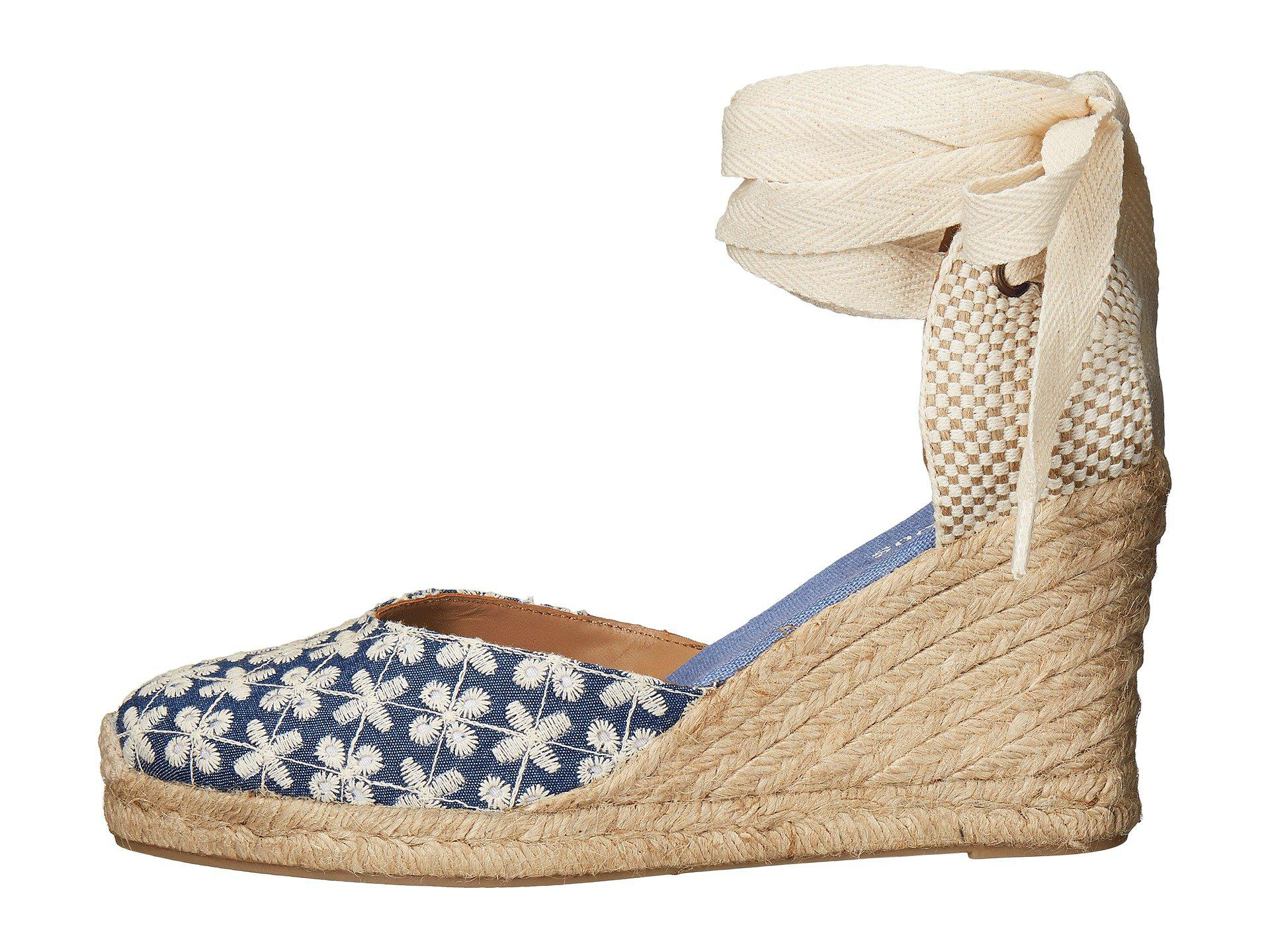 216908fa6 Lyst - Soludos Pattern Tall Wedge in Blue