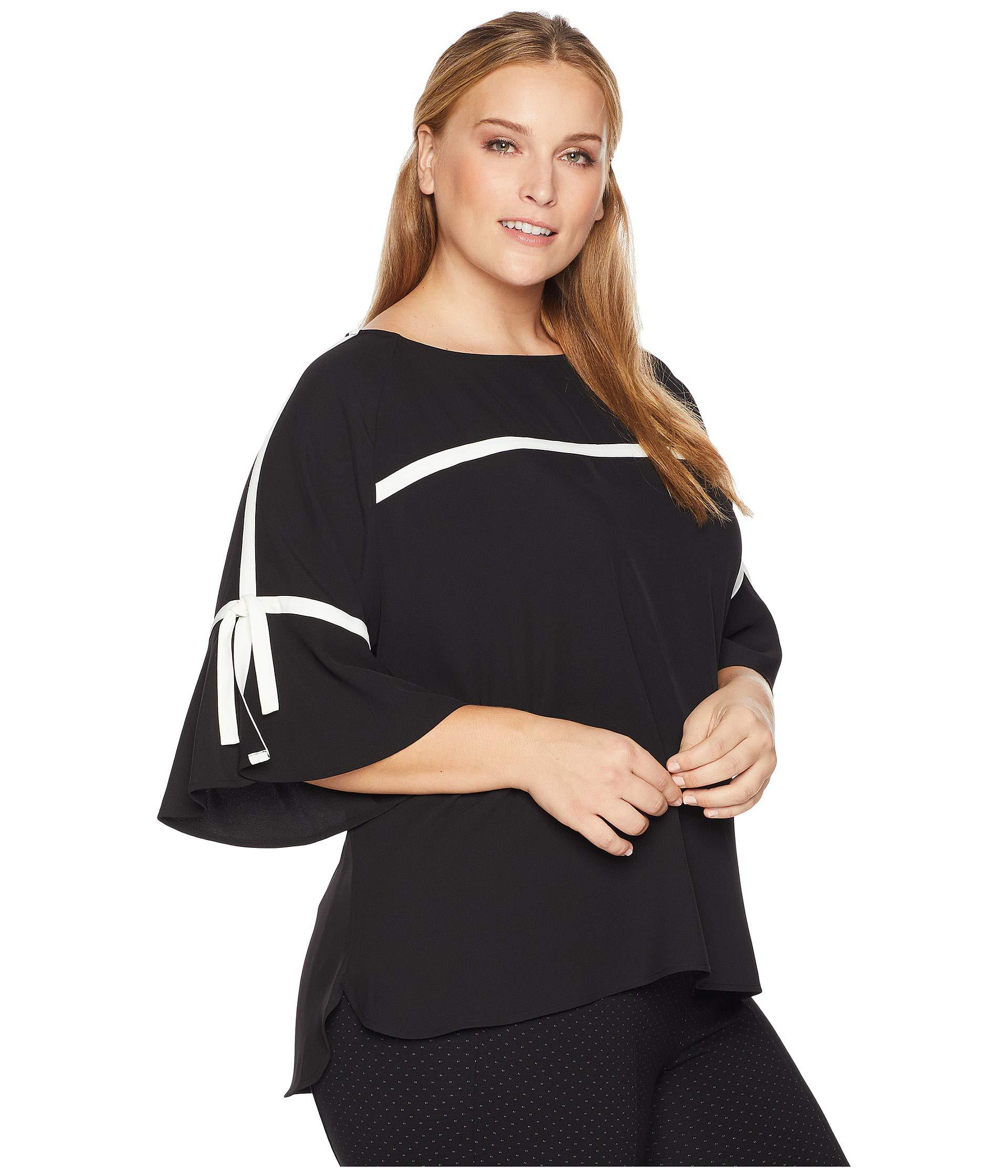a2cf7d2609a63d Calvin Klein - Black Plus Size Flare Sleeve W pipng - Lyst. View fullscreen