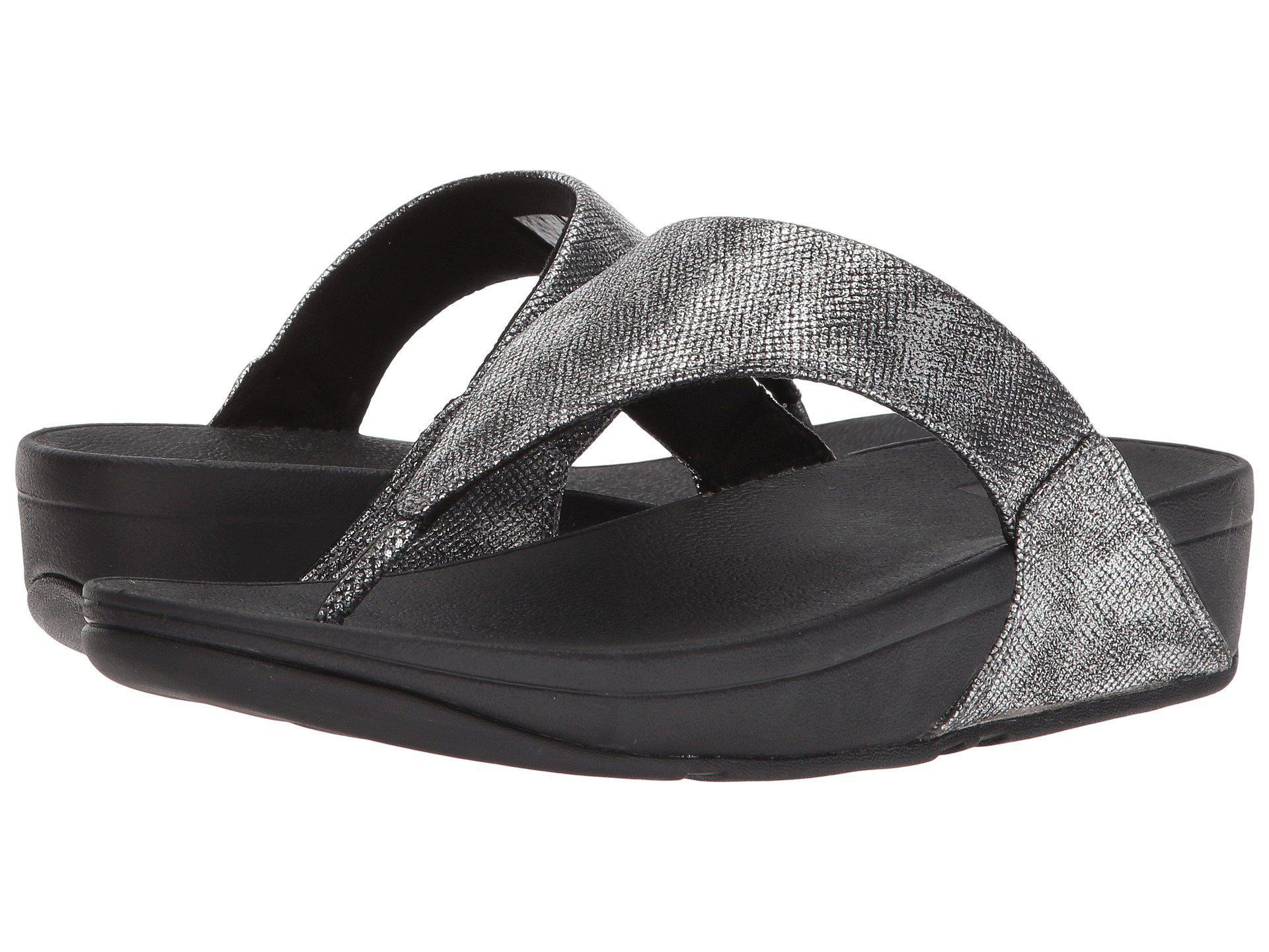 42239b8ba60f9a Lyst - Fitflop Lulu Toe-thong Sandal in Black - Save 36%