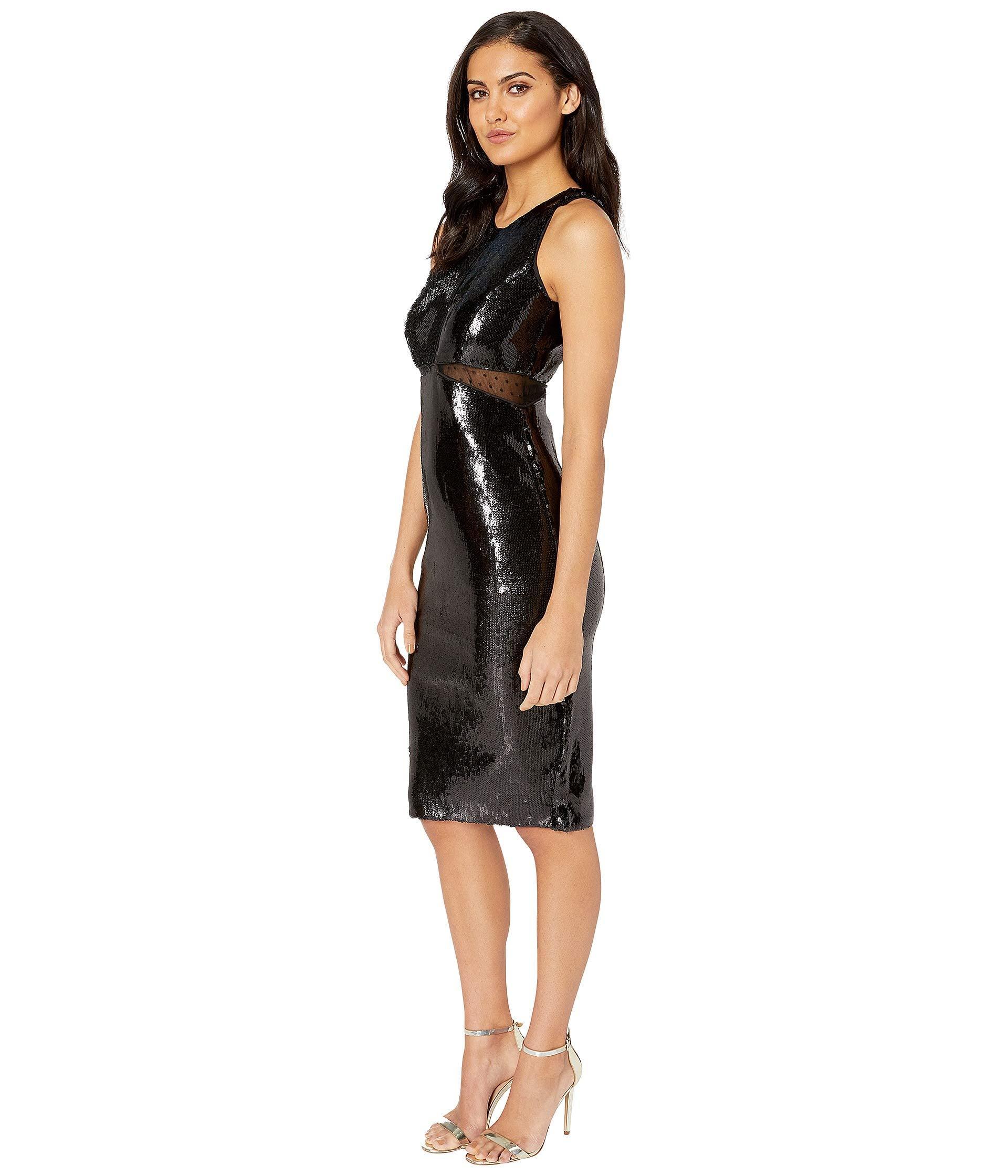 1aee8c5fb0a Lyst - Bardot Splice Sequin Dress in Black - Save 9%