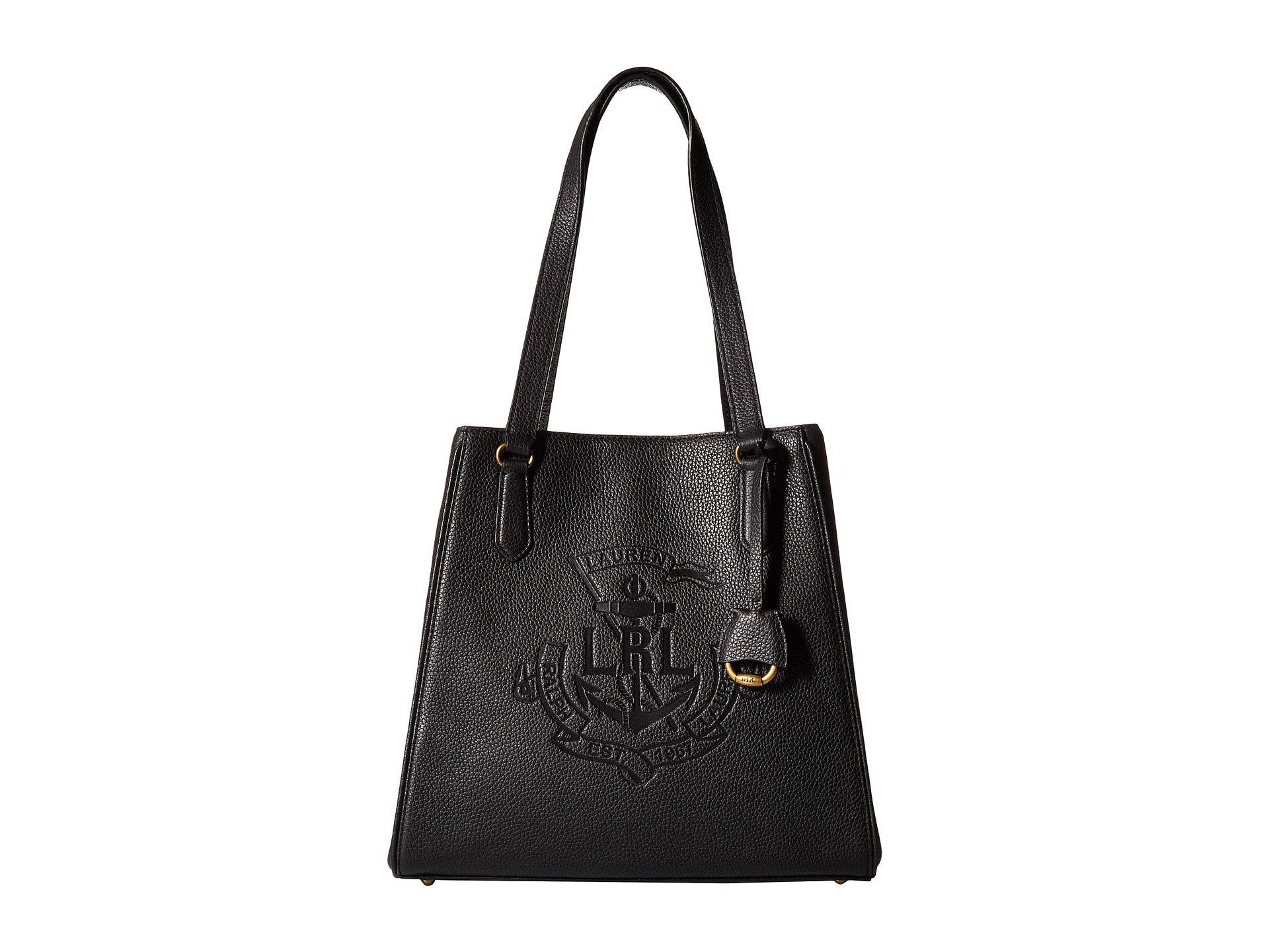 4877823fc32f Lyst - Lauren by Ralph Lauren Huntley Tote in Black