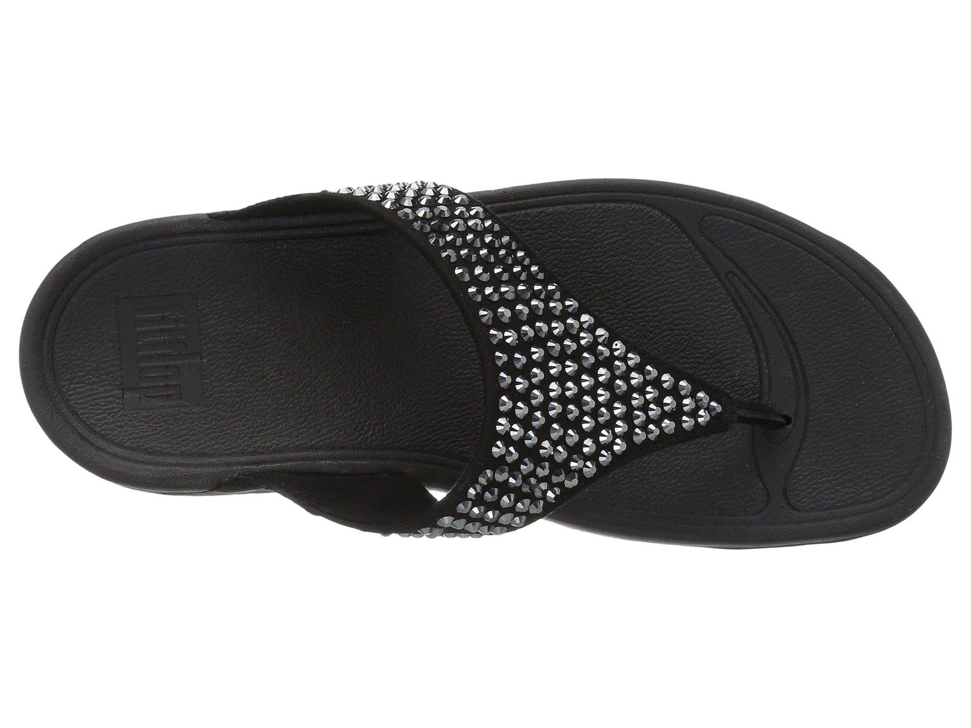 7cd5e616a444ec Lyst - Fitflop Glitzie Toe-thong Sandals in Black