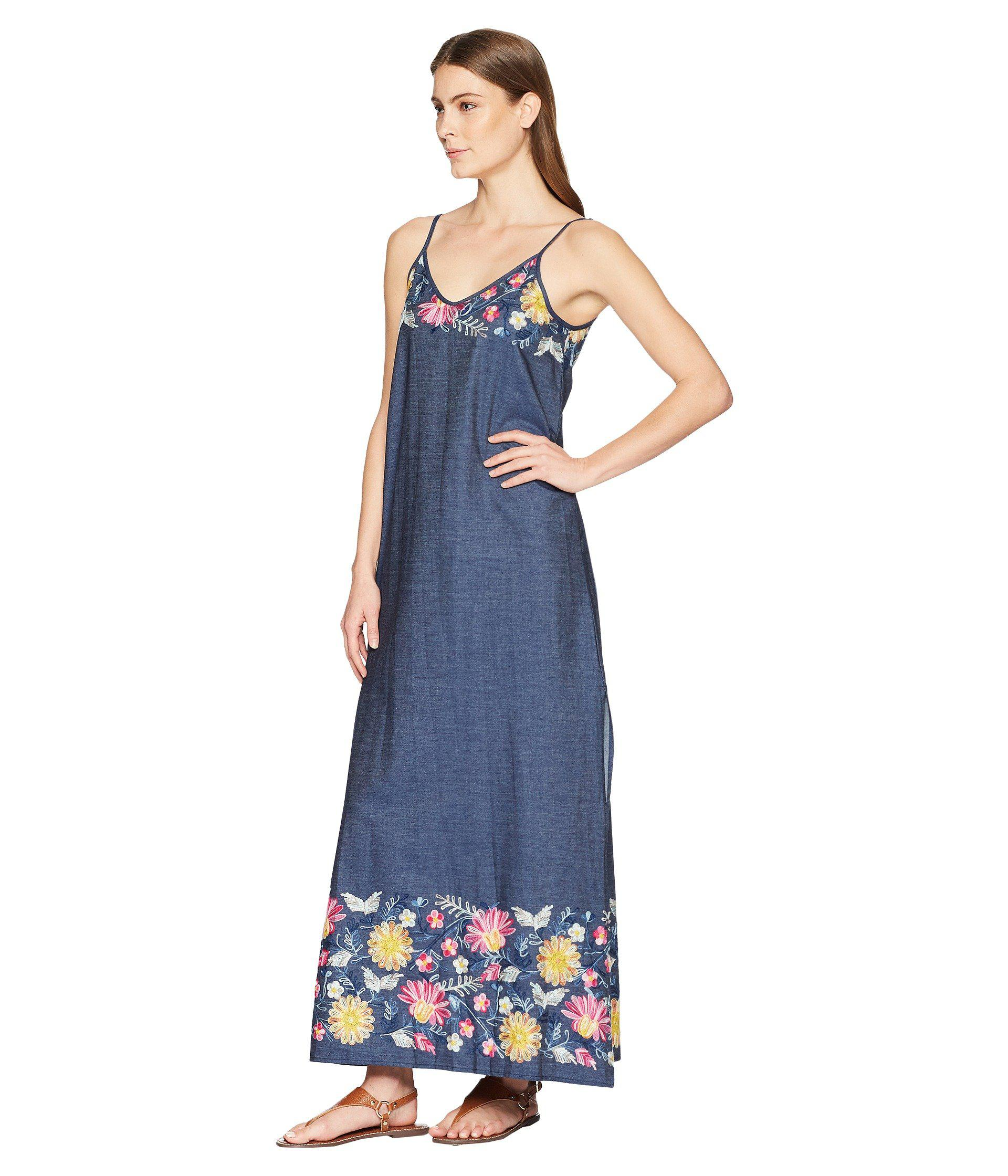 e00bc7c640b Lyst - Karen Kane Embroidered Maxi Dress in Blue - Save 22%
