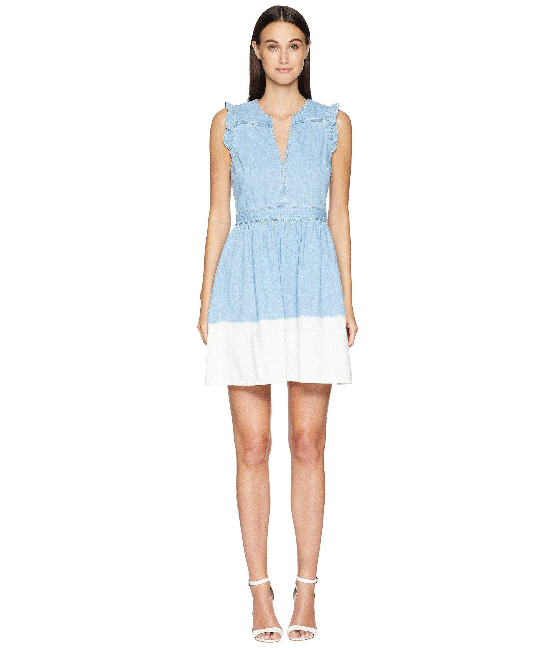 5faf4c6e07 Lyst - Kate Spade Dip Dye Denim Dress in Blue - Save 65%