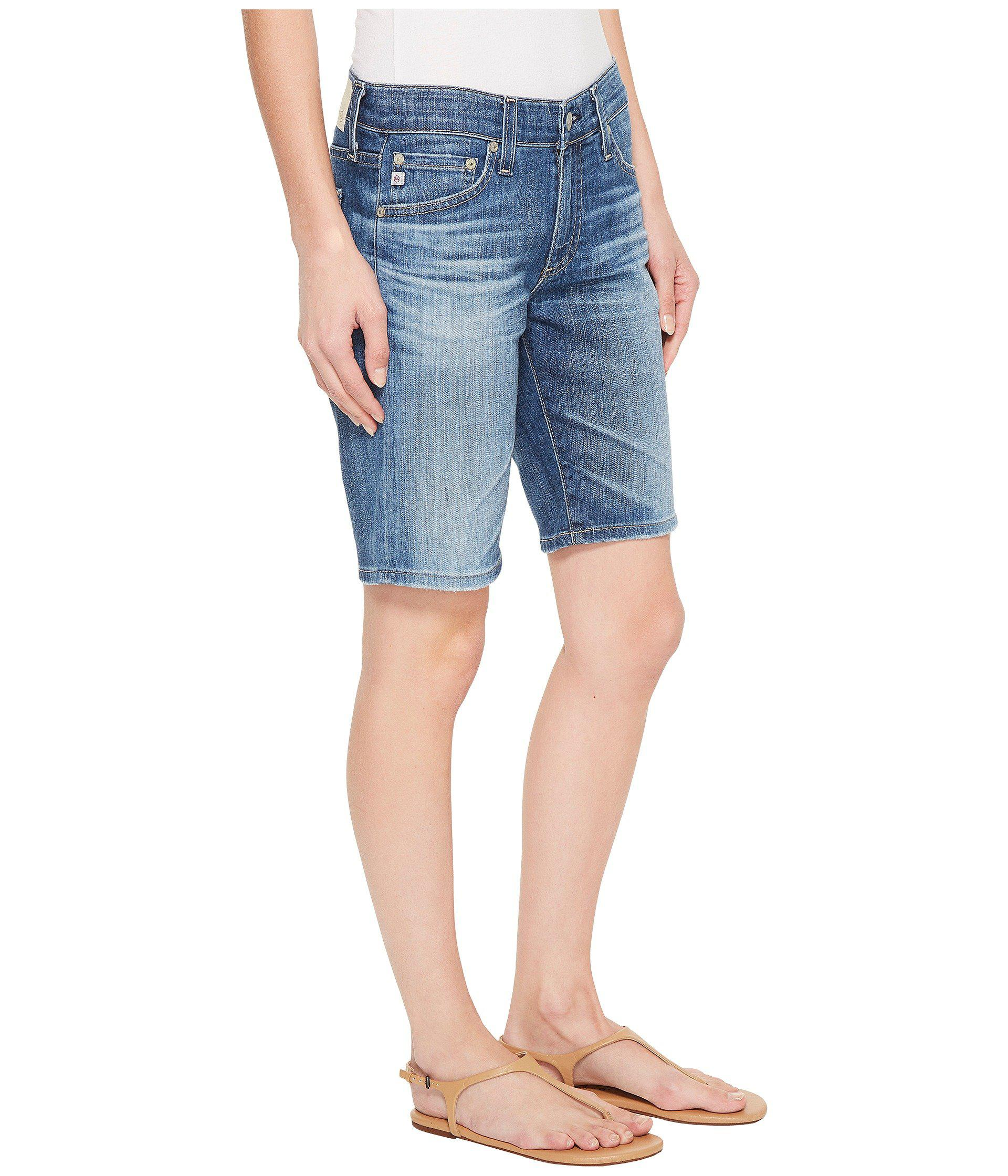 e9e305e8ef AG Jeans Nikki Shorts In 11 Years Sapphire Sky in Blue - Lyst