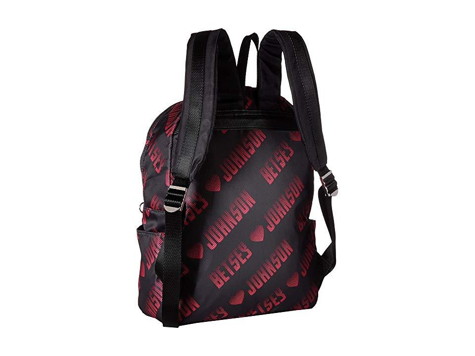 6d4a30d73f3a8 Betsey Johnson Sporty Logo Backpack (black fuchsia) Backpack Bags in ...