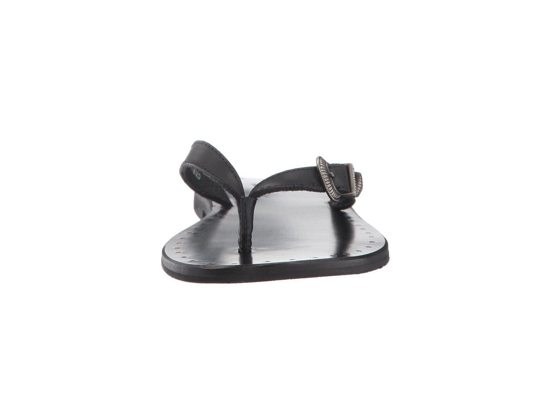 e6e80355a87245 Lyst - Frye Ally Western Flip Flop in Black - Save 29.59183673469387%