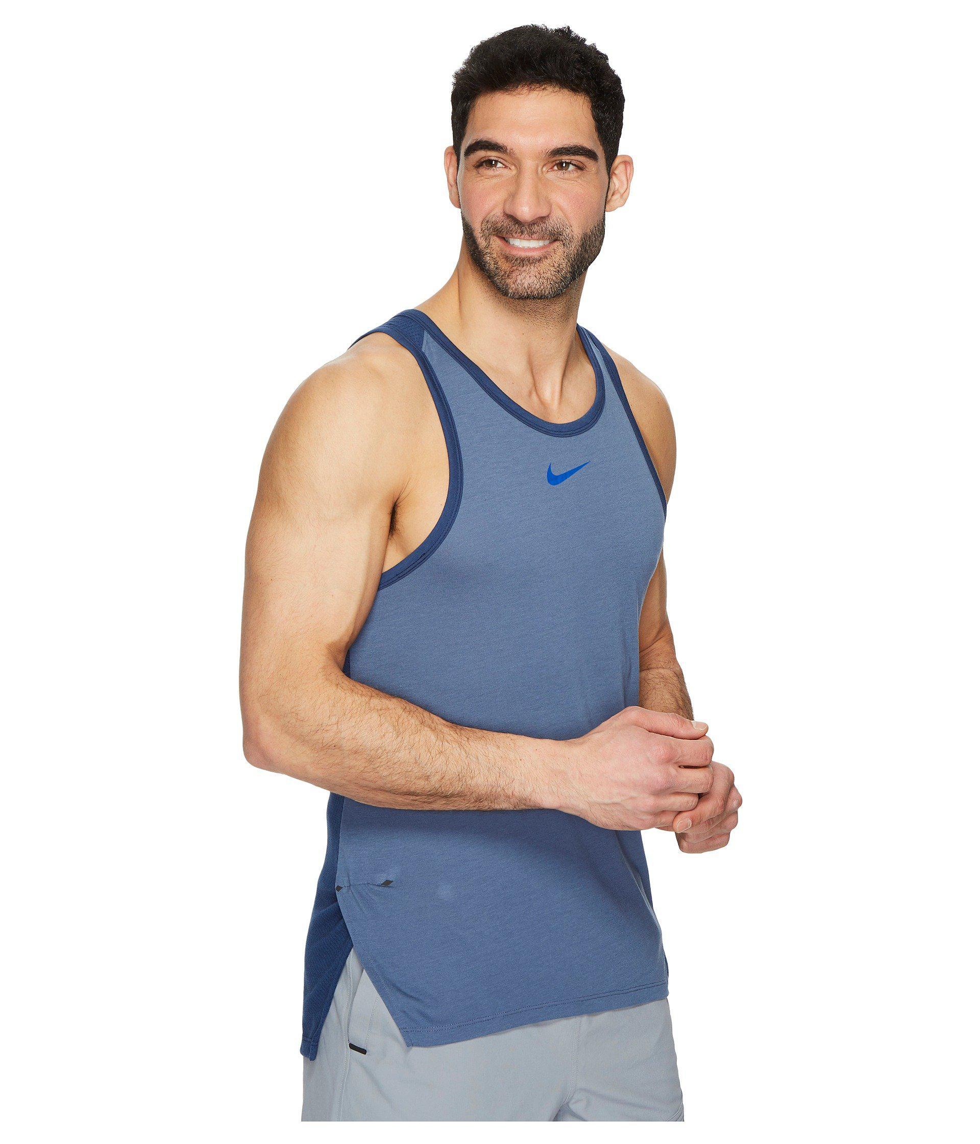 d534c02862866 Lyst - Nike Breathe Elite Sleeveless Top in Blue for Men