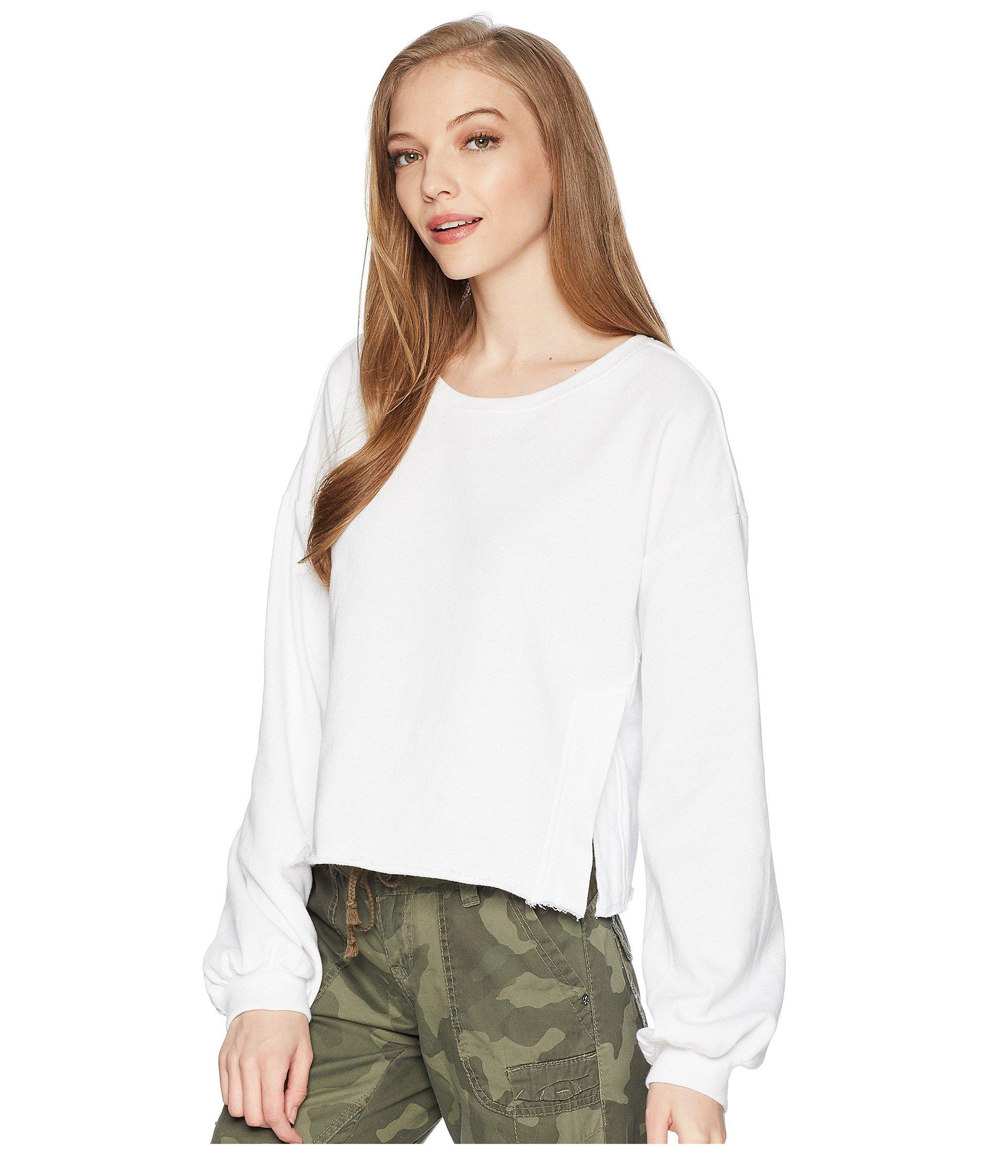 5f2d280dd49e1 Romeo and Juliet Couture. Women s White Balloon Sleeve Cropped Sweatshirt