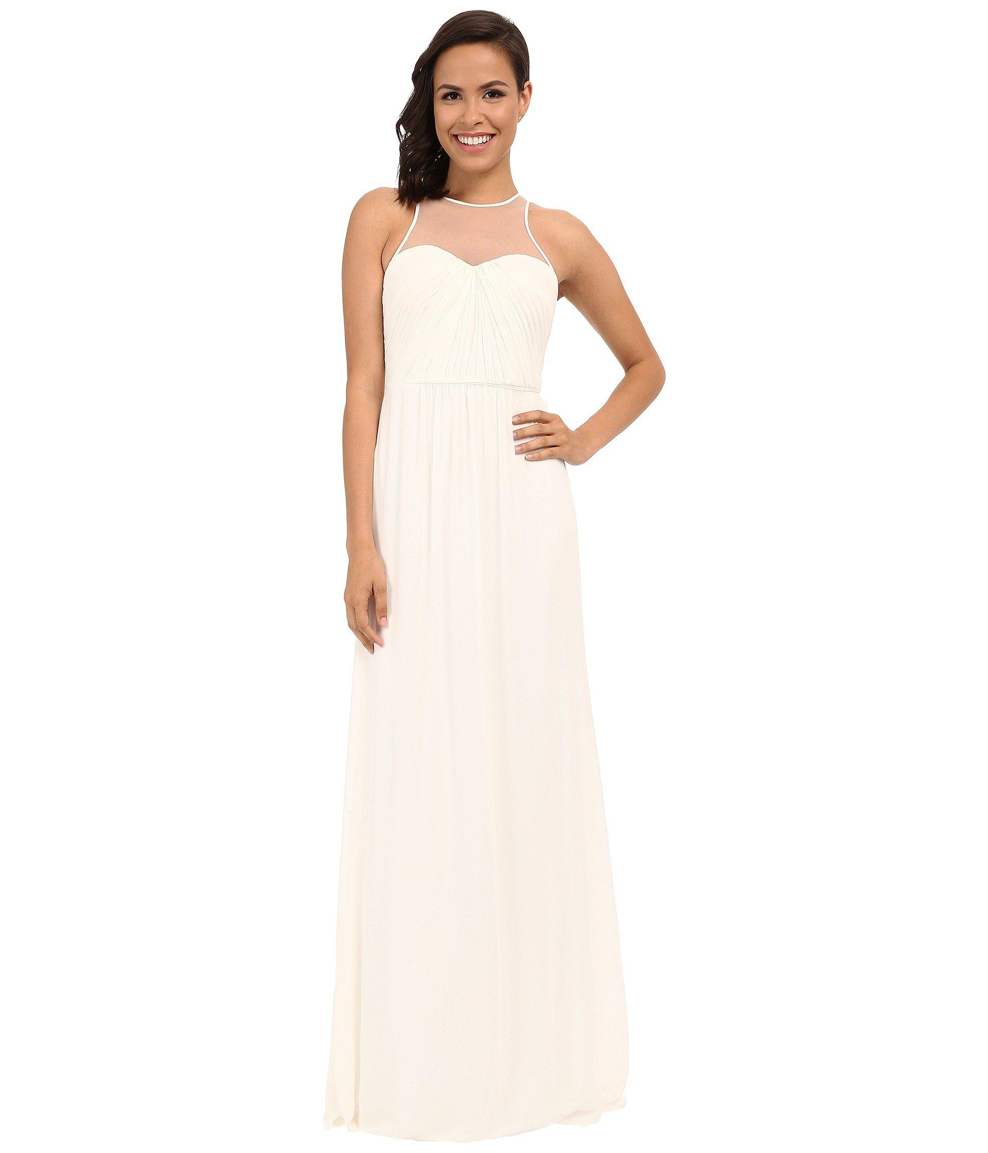 Lyst - Faviana Chiffon Gown With Illusion Sweetheart Neckline ...