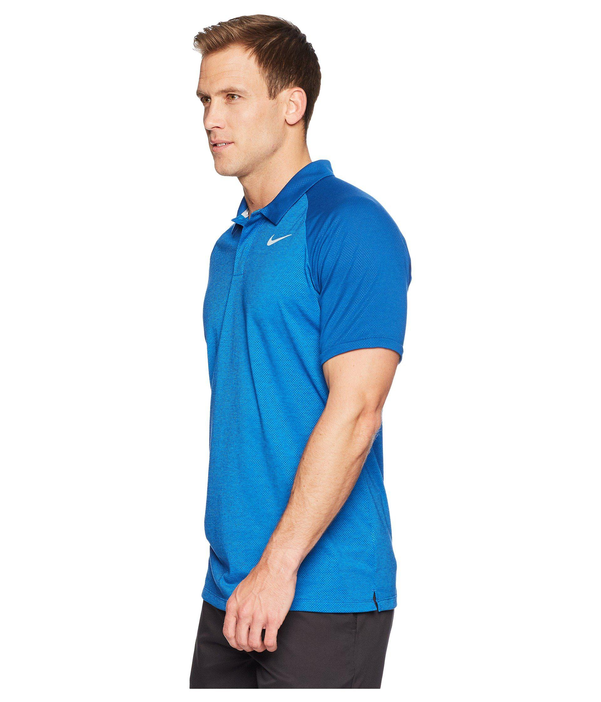 3a2bef72 Nike Dry Polo Raglan in Blue for Men - Lyst