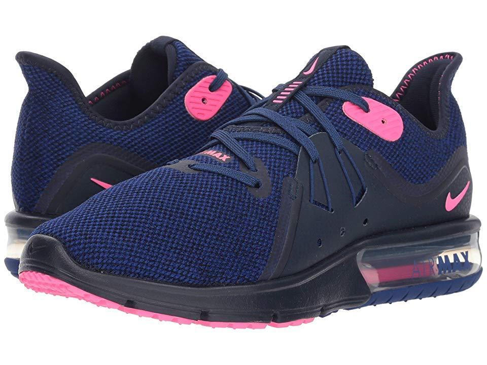 2815640a07 Nike Air Max Sequent 3 (obsidian/pink Blast/deep Royal Blue) Shoes ...