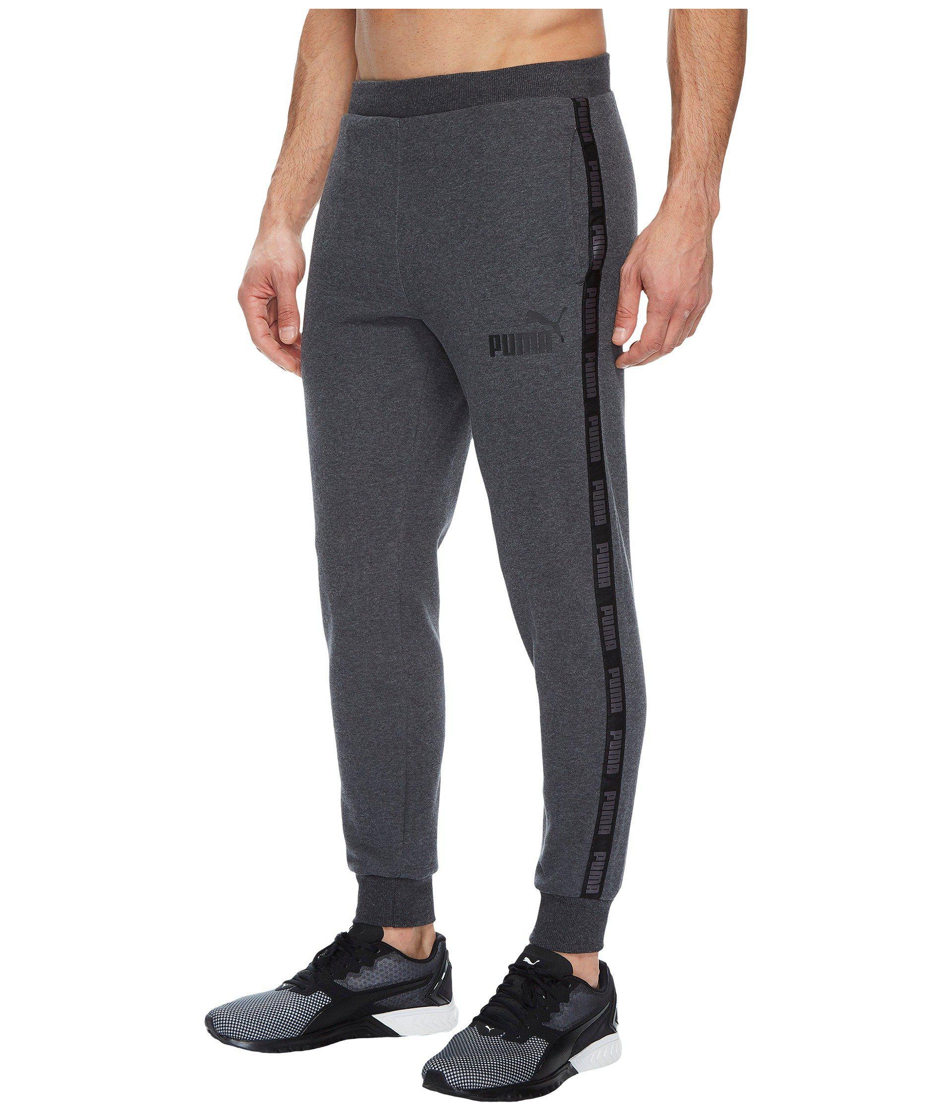 0f390b54085d Lyst - PUMA Rebel Tape Sweatpants Fleece in Gray for Men