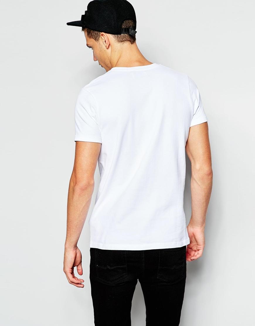 Han Kjobenhavn Han T Shirt With Colour Block In White For