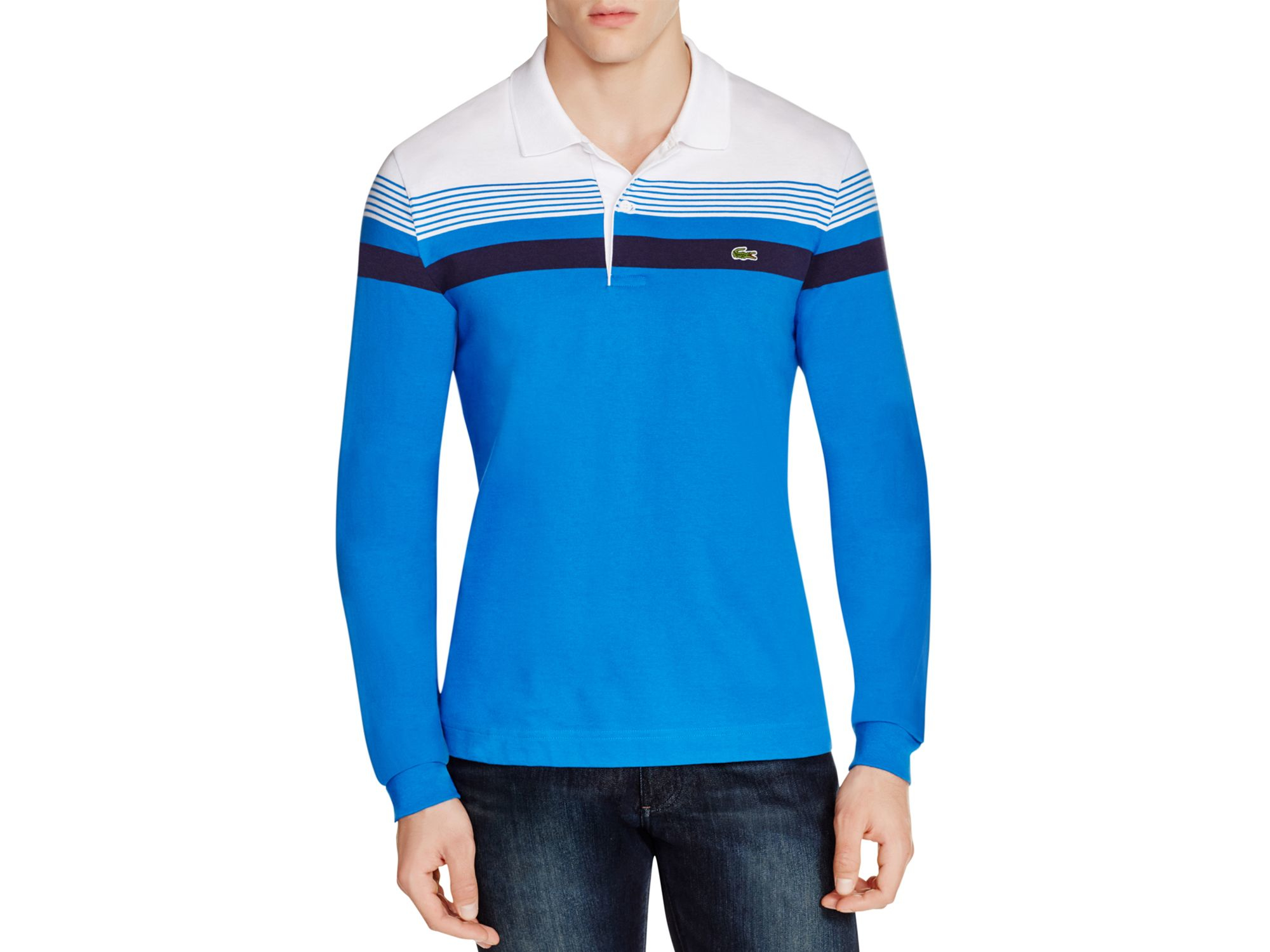 5a99162b Lacoste Blue Long Sleeve Regular Fit Polo Shirt for men