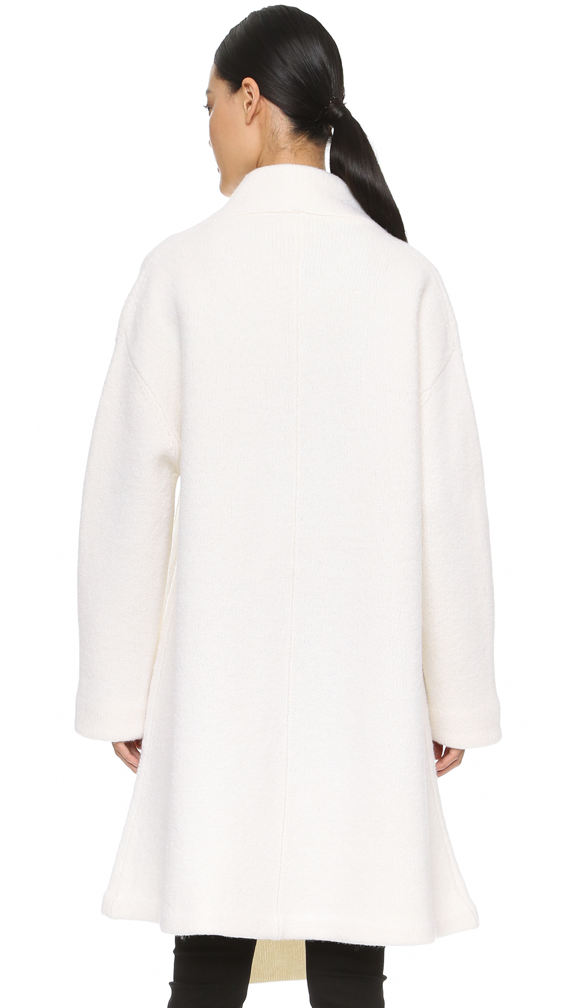lyst acne studios hava sweater coat off white in white. Black Bedroom Furniture Sets. Home Design Ideas