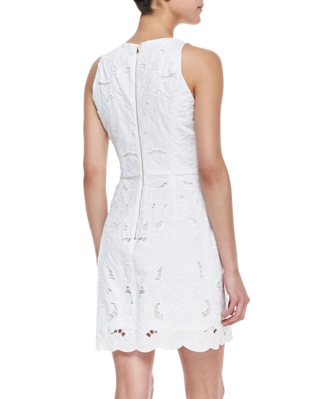 Milly claudia lace sheath dress
