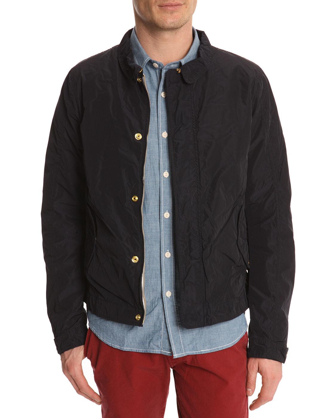 scotch soda navy nylon jacket in blue for men navy lyst. Black Bedroom Furniture Sets. Home Design Ideas