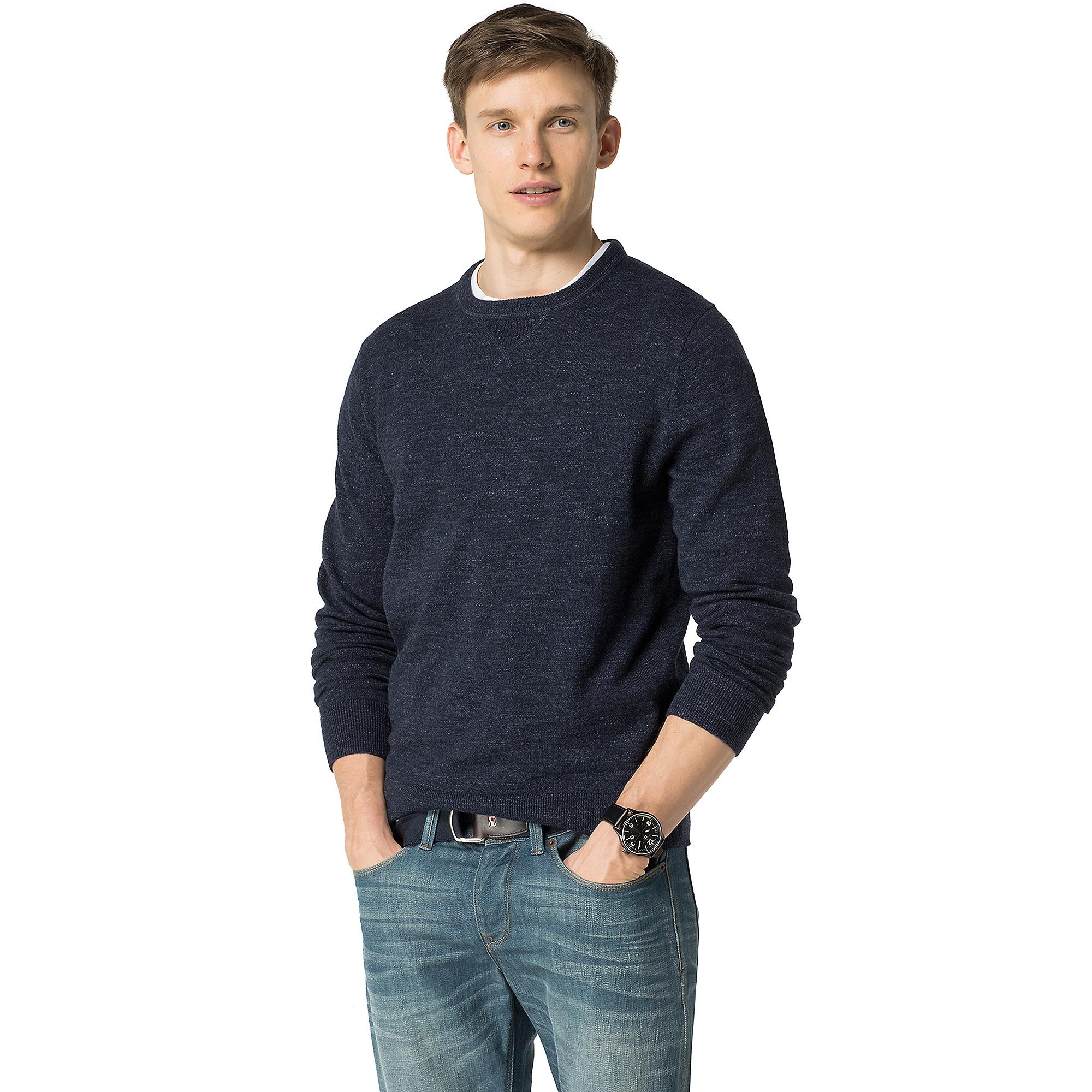 tommy hilfiger sport sweater in blue for men navy blazer. Black Bedroom Furniture Sets. Home Design Ideas