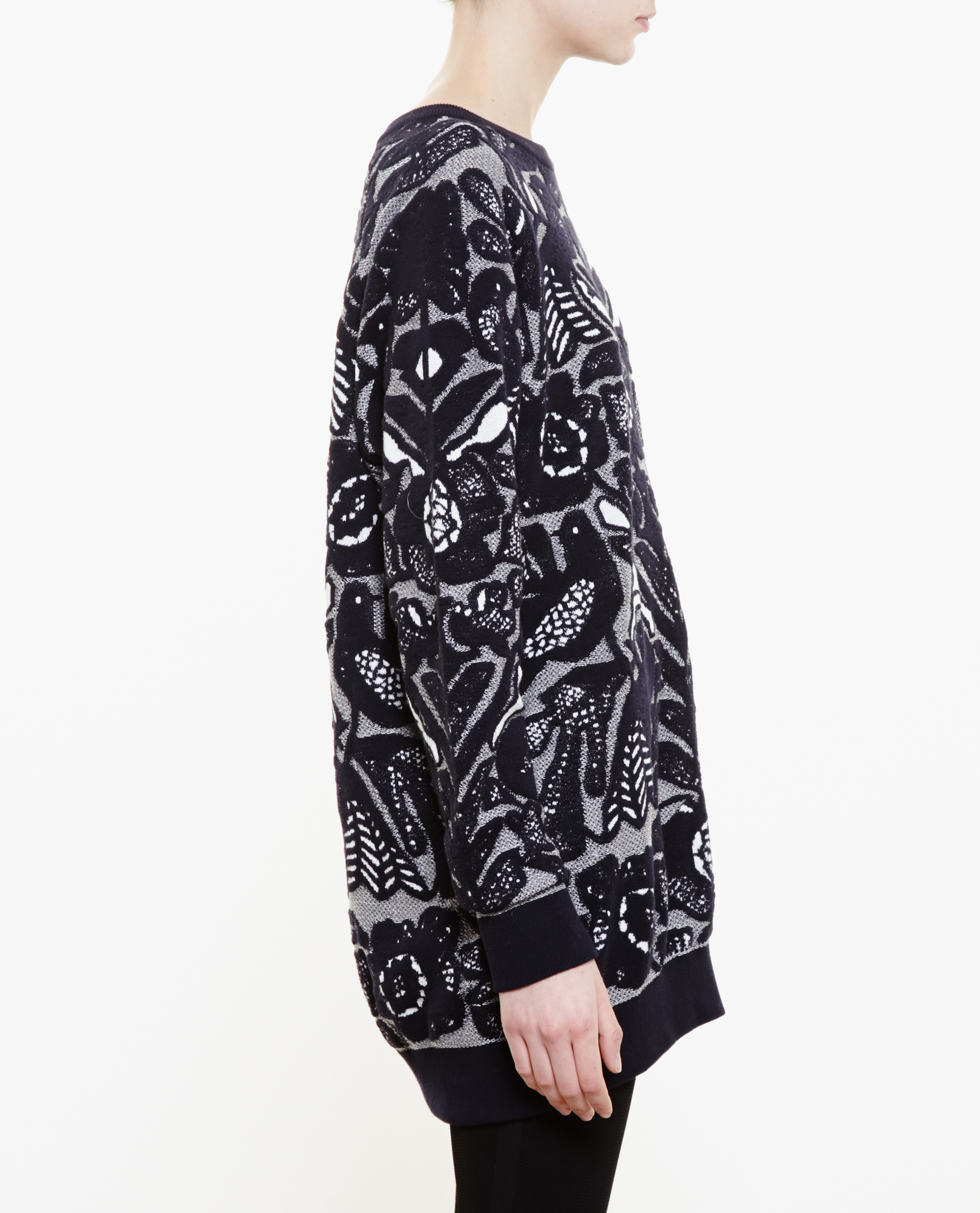 Chloé Flower Jacquard Sweater in Black