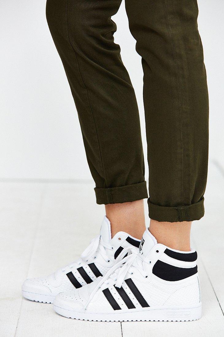 adidas Top Ten Hi Sneaker in White - Lyst